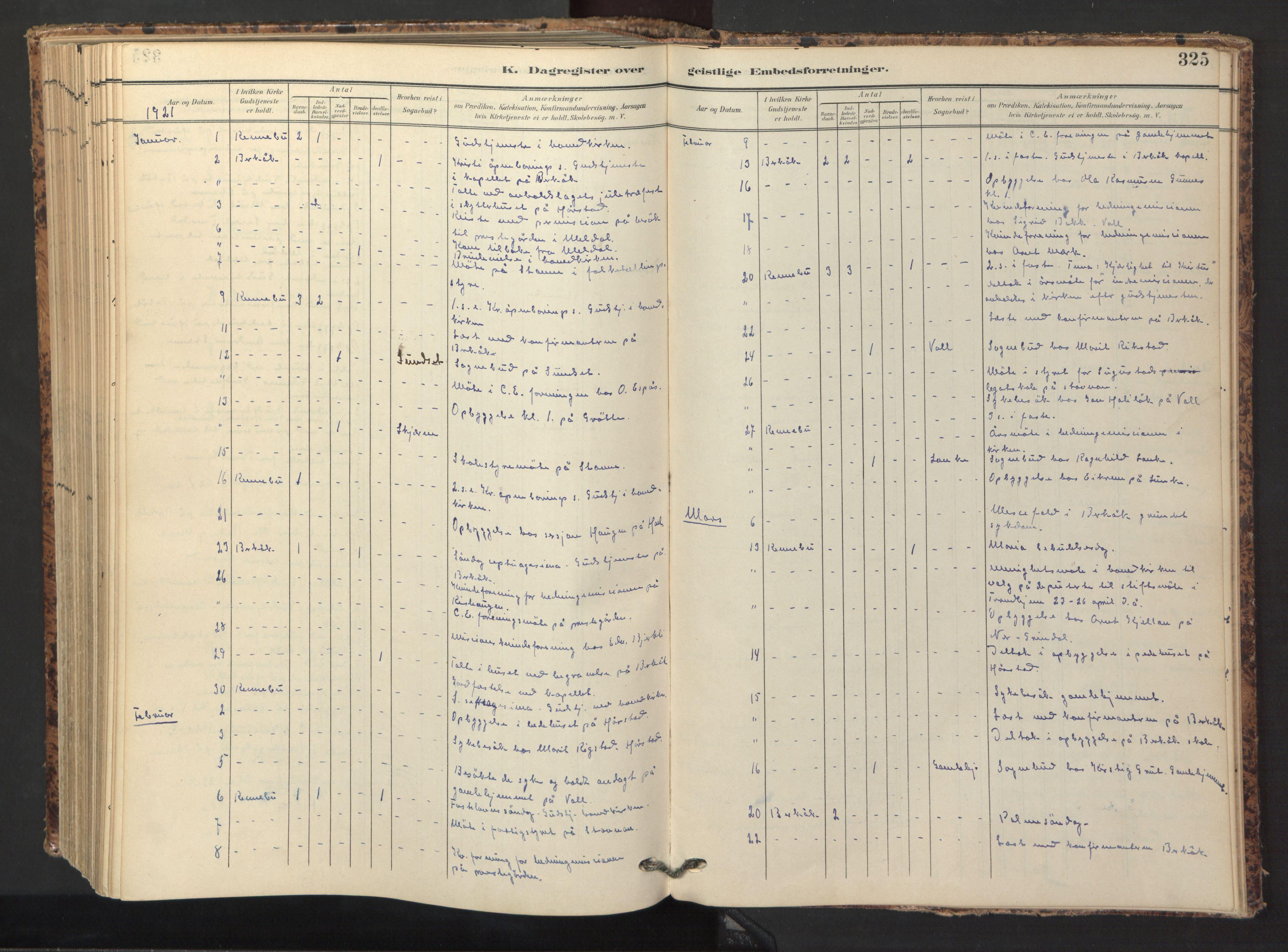 SAT, Ministerialprotokoller, klokkerbøker og fødselsregistre - Sør-Trøndelag, 674/L0873: Ministerialbok nr. 674A05, 1908-1923, s. 325
