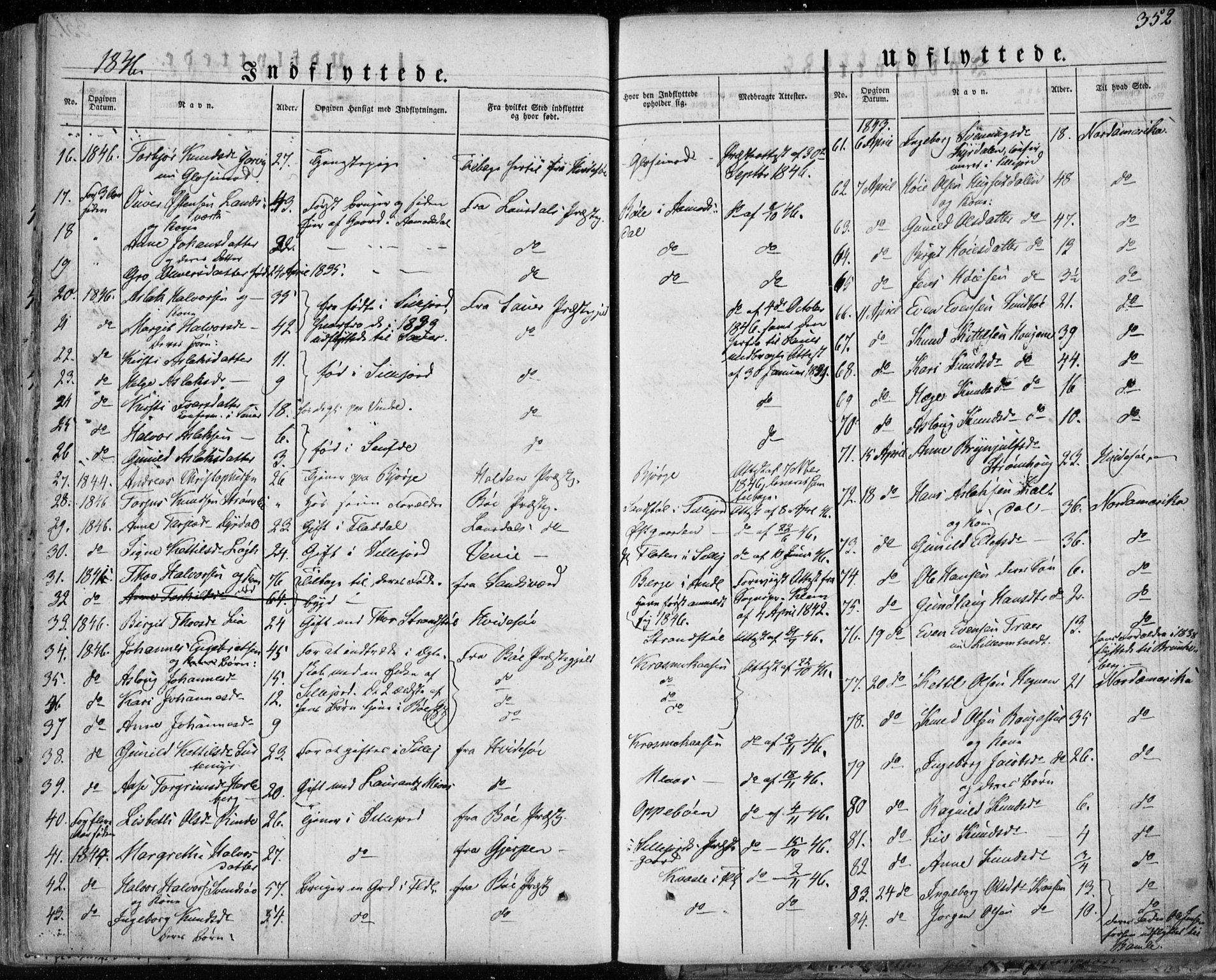 SAKO, Seljord kirkebøker, F/Fa/L0011: Ministerialbok nr. I 11, 1831-1849, s. 352