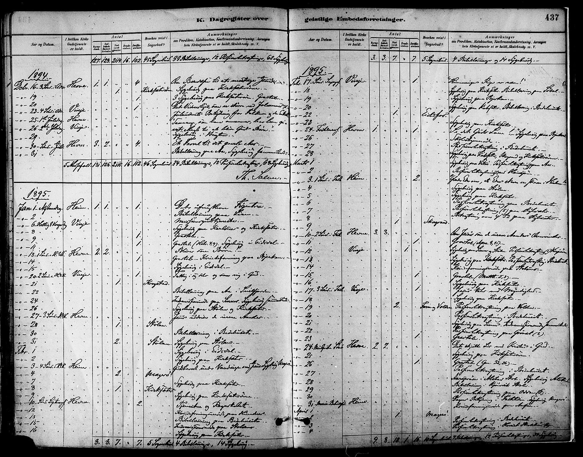 SAT, Ministerialprotokoller, klokkerbøker og fødselsregistre - Sør-Trøndelag, 630/L0496: Ministerialbok nr. 630A09, 1879-1895, s. 437