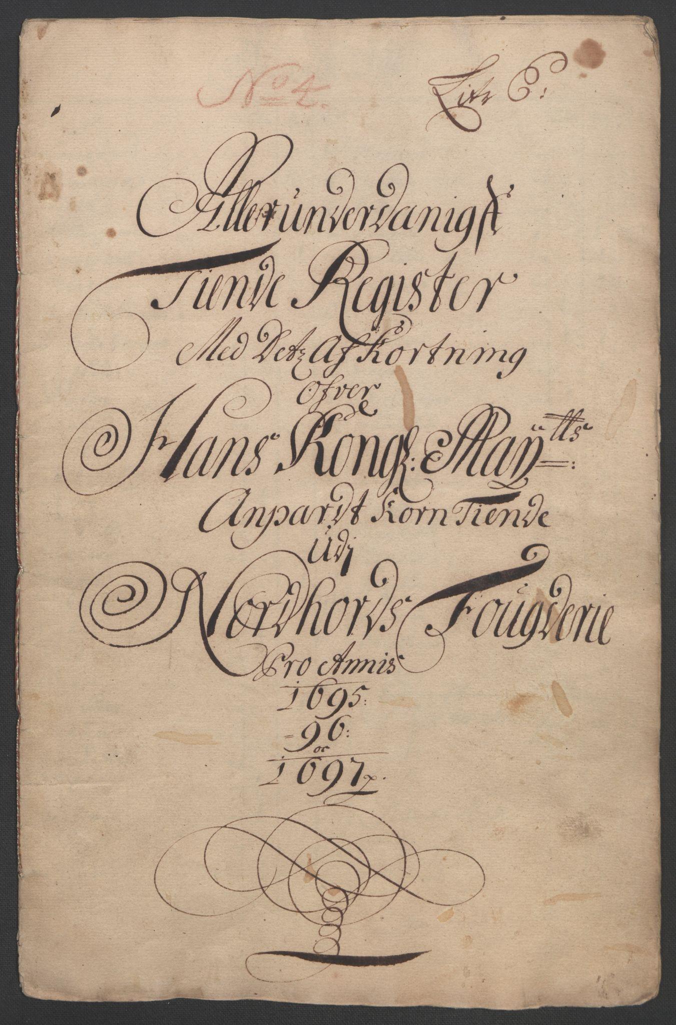 RA, Rentekammeret inntil 1814, Reviderte regnskaper, Fogderegnskap, R51/L3183: Fogderegnskap Nordhordland og Voss, 1695-1697, s. 442