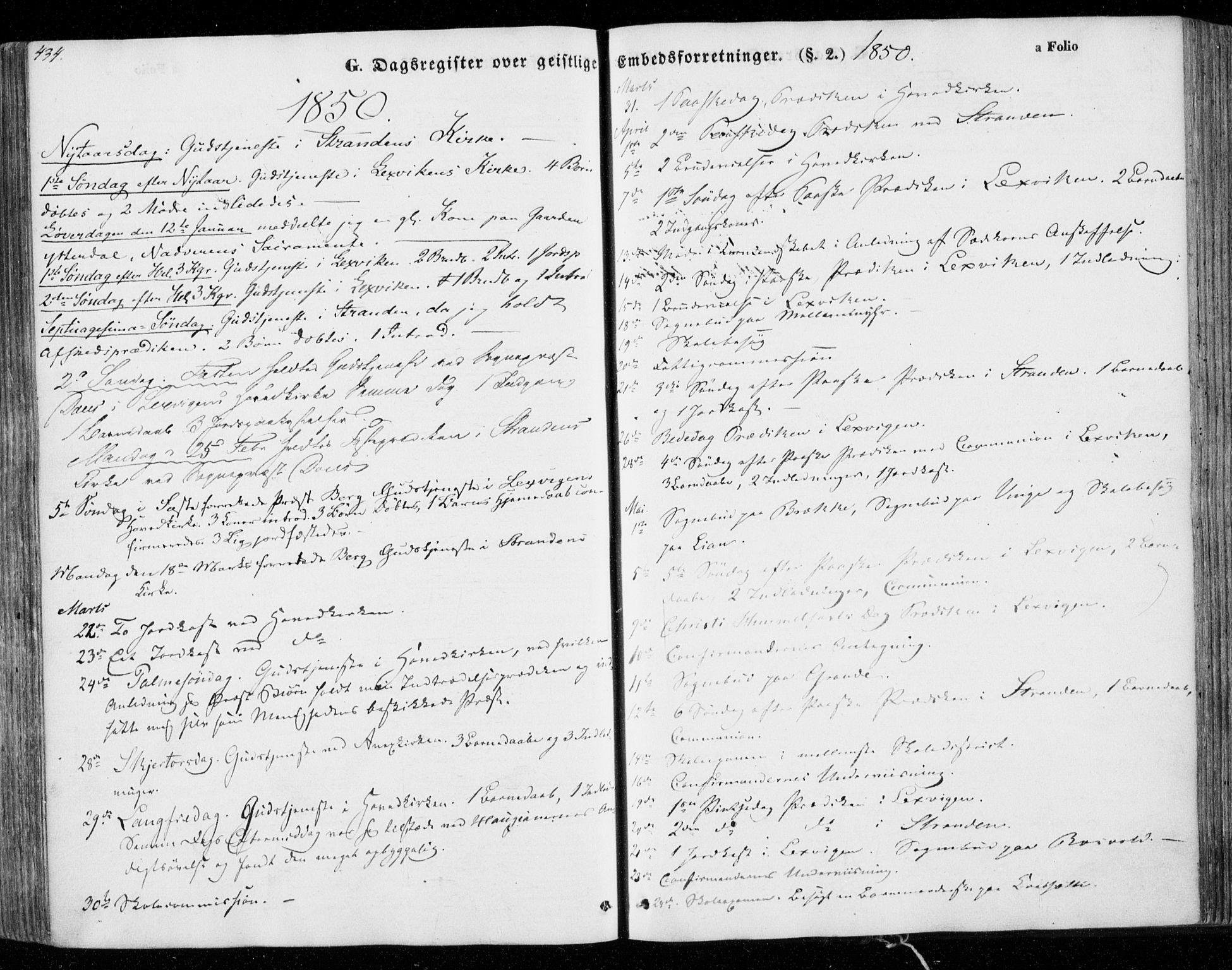 SAT, Ministerialprotokoller, klokkerbøker og fødselsregistre - Nord-Trøndelag, 701/L0007: Ministerialbok nr. 701A07 /1, 1842-1854, s. 434