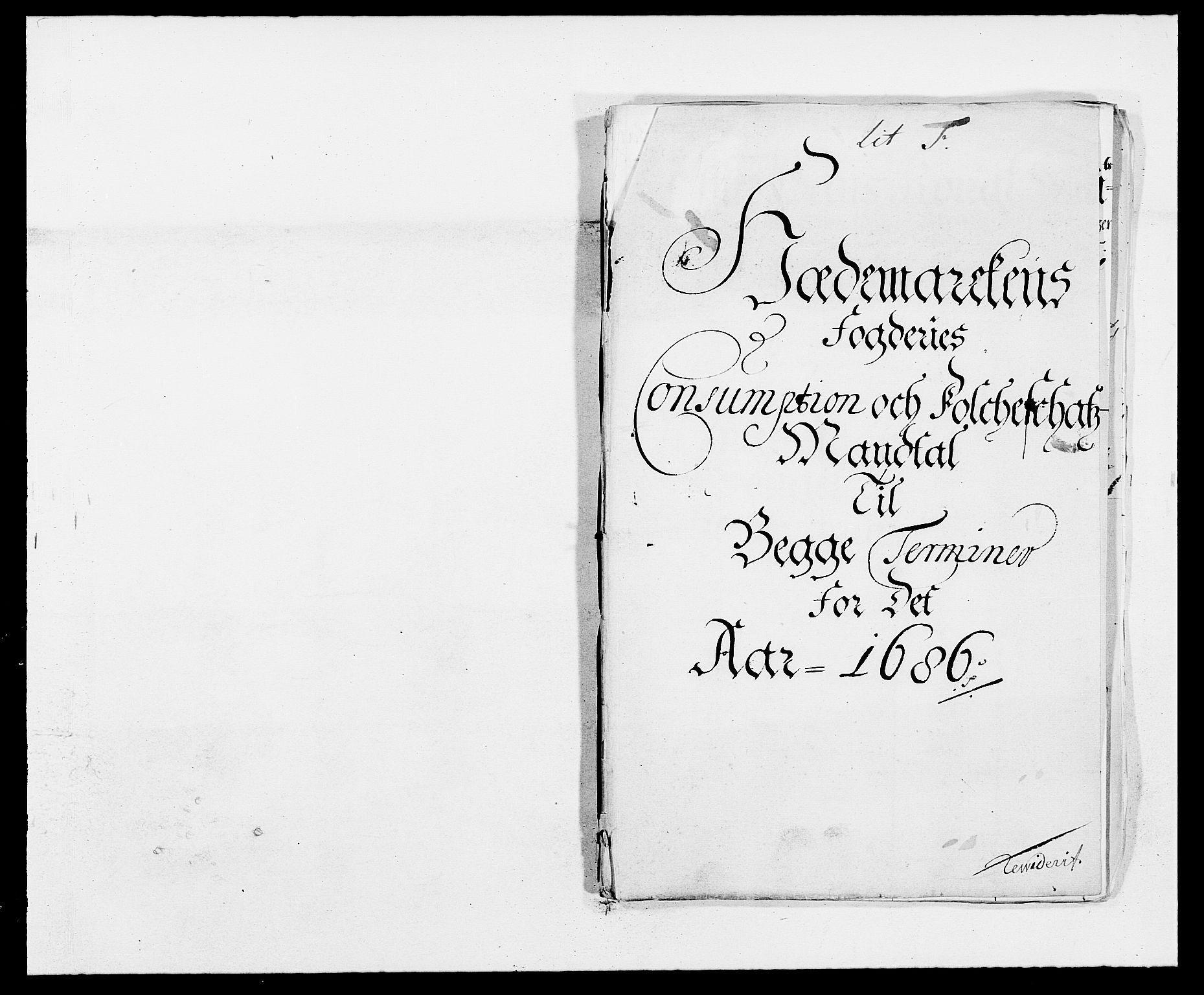 RA, Rentekammeret inntil 1814, Reviderte regnskaper, Fogderegnskap, R16/L1027: Fogderegnskap Hedmark, 1686, s. 289