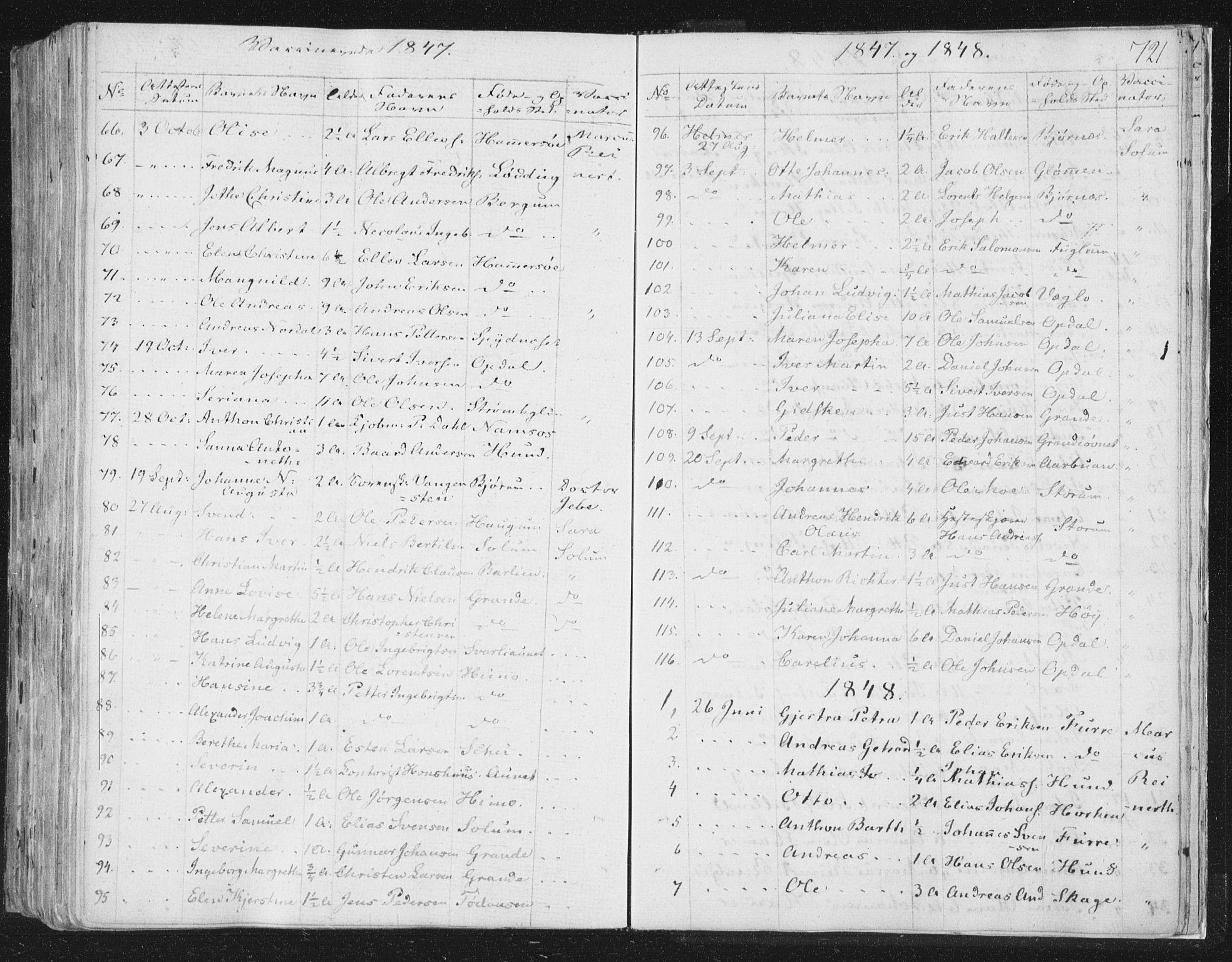 SAT, Ministerialprotokoller, klokkerbøker og fødselsregistre - Nord-Trøndelag, 764/L0552: Ministerialbok nr. 764A07b, 1824-1865, s. 721