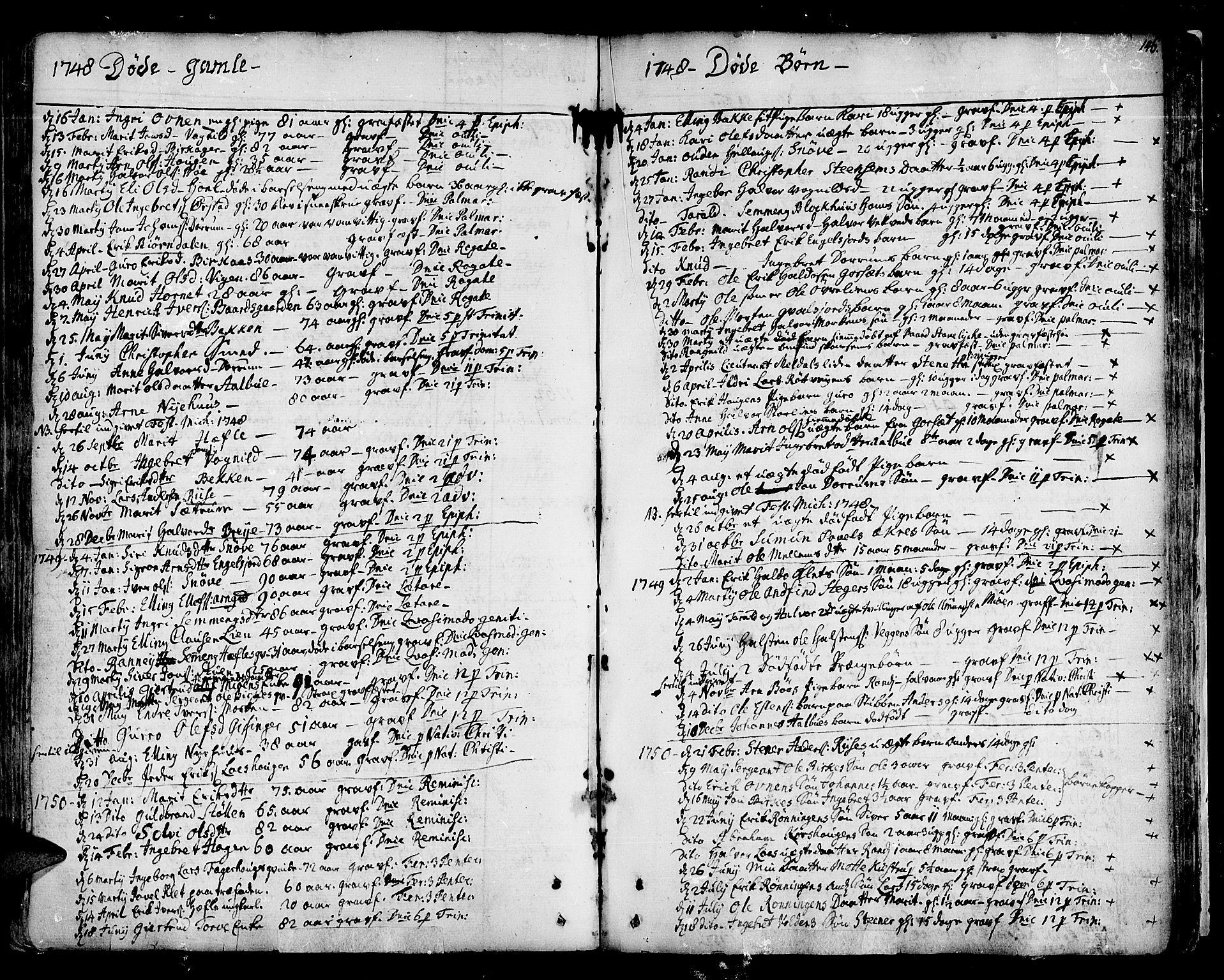 SAT, Ministerialprotokoller, klokkerbøker og fødselsregistre - Sør-Trøndelag, 678/L0891: Ministerialbok nr. 678A01, 1739-1780, s. 146