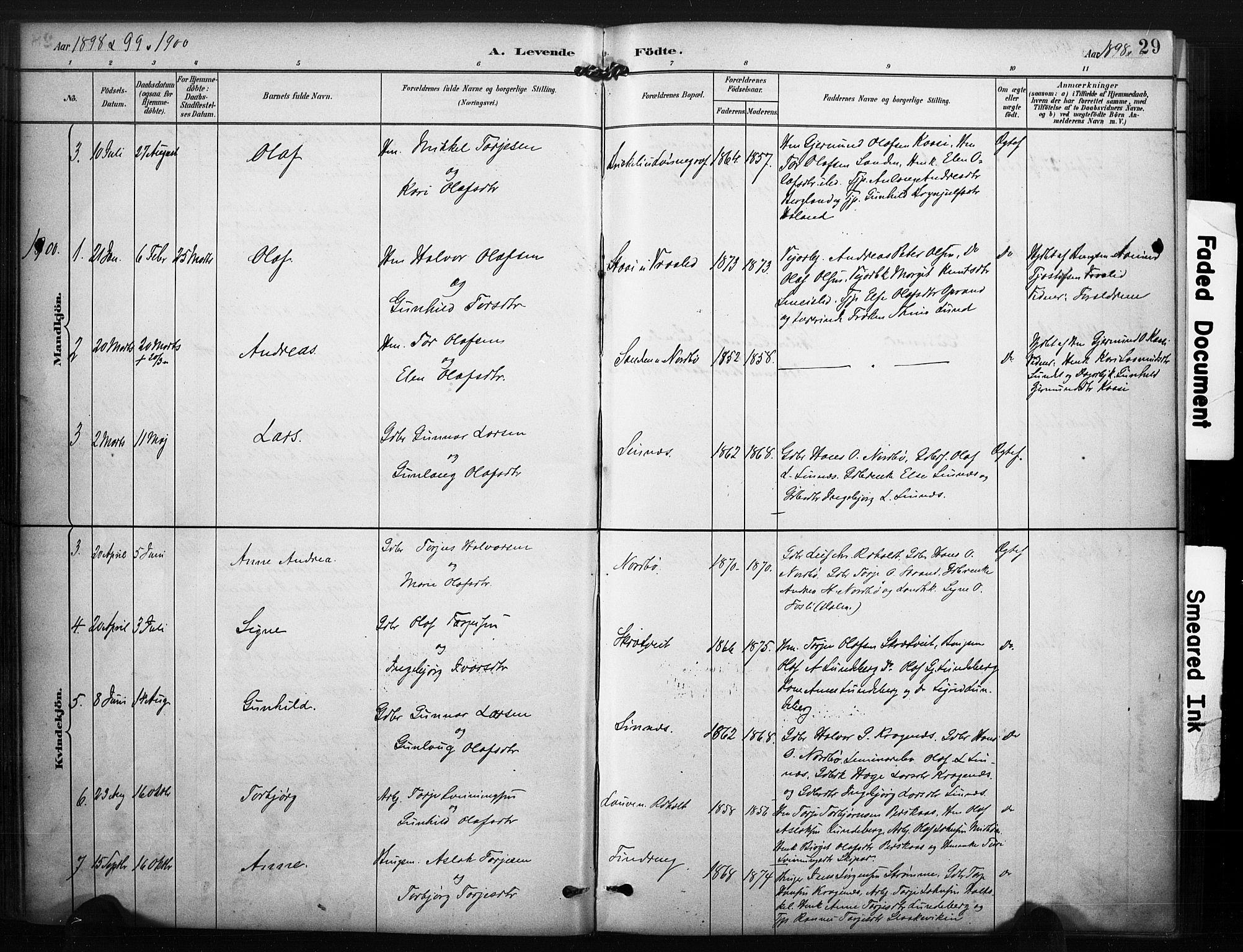 SAKO, Kviteseid kirkebøker, F/Fc/L0002: Ministerialbok nr. III 2, 1882-1908, s. 29