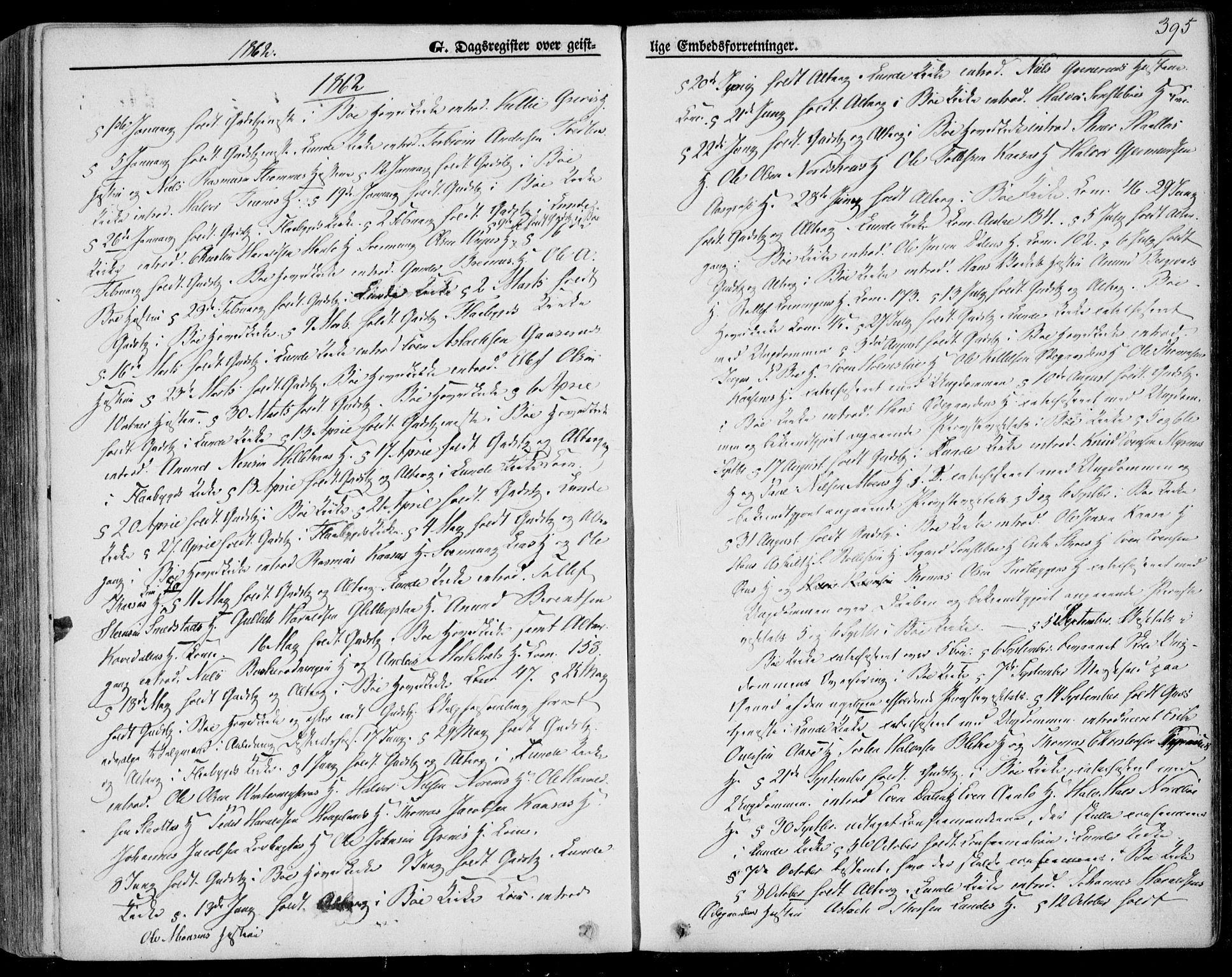 SAKO, Bø kirkebøker, F/Fa/L0009: Ministerialbok nr. 9, 1862-1879, s. 395