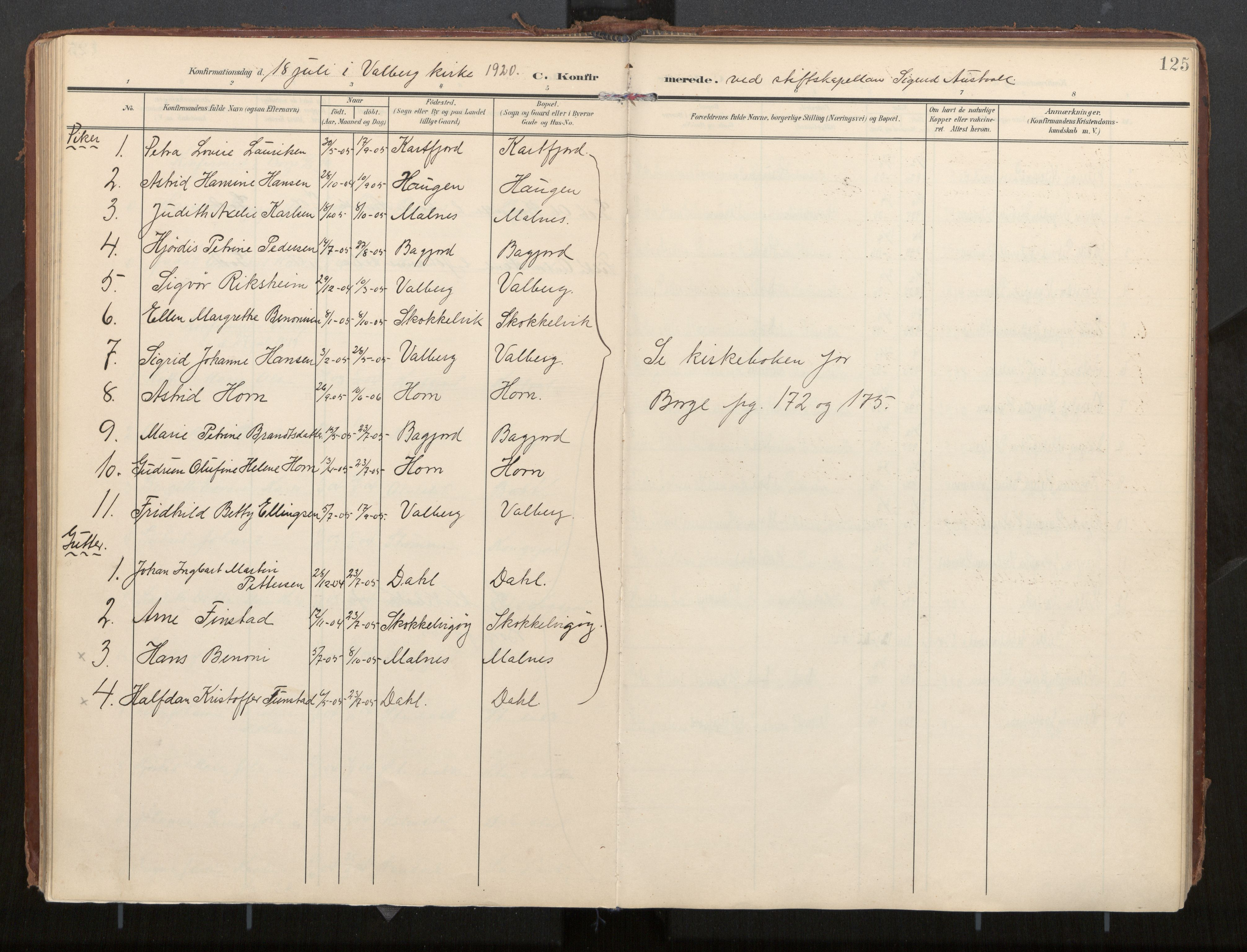 SAT, Ministerialprotokoller, klokkerbøker og fødselsregistre - Nordland, 884/L1194: Ministerialbok nr. 884A02, 1906-1937, s. 125