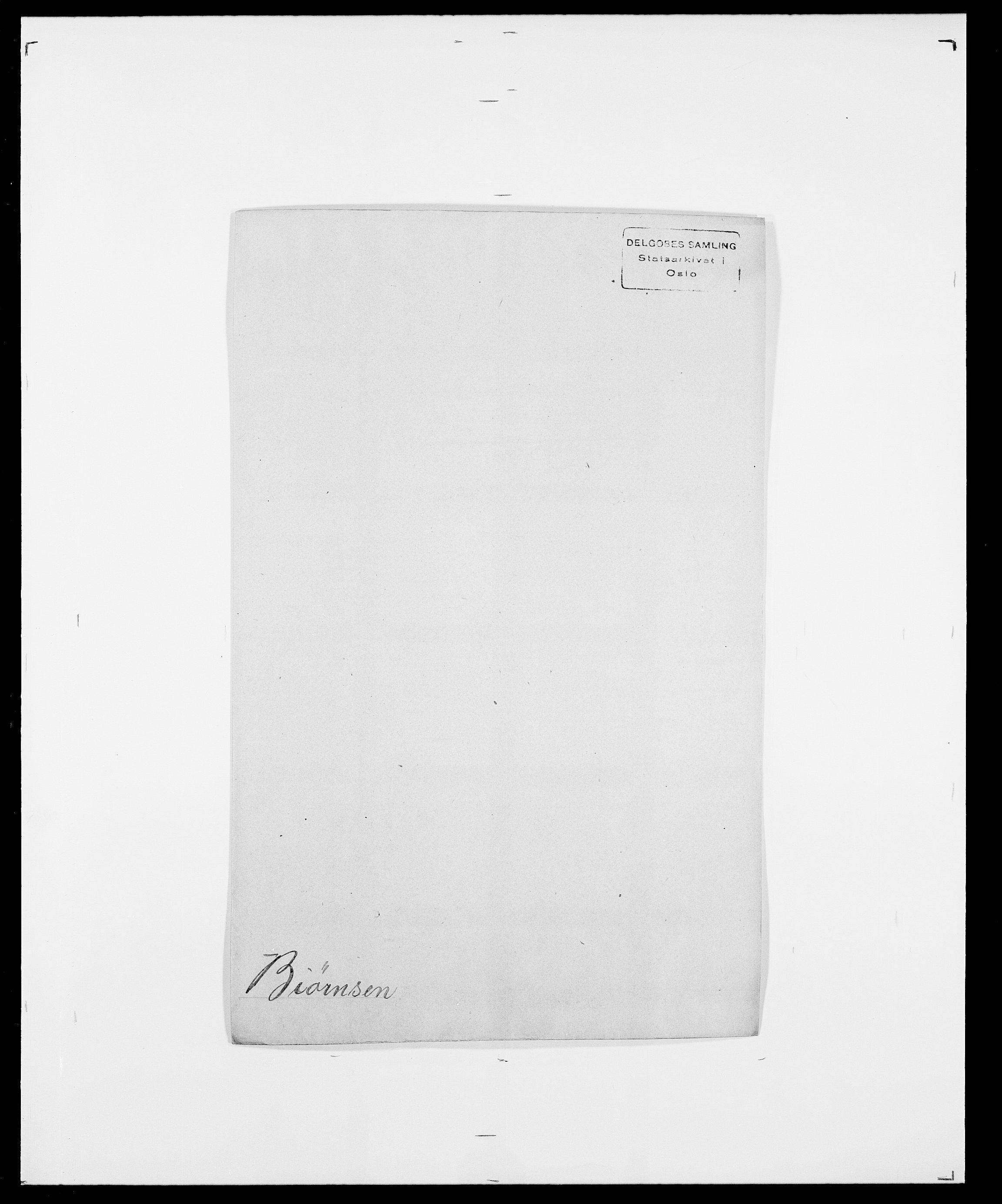 SAO, Delgobe, Charles Antoine - samling, D/Da/L0004: Bergendahl - Blære, s. 410