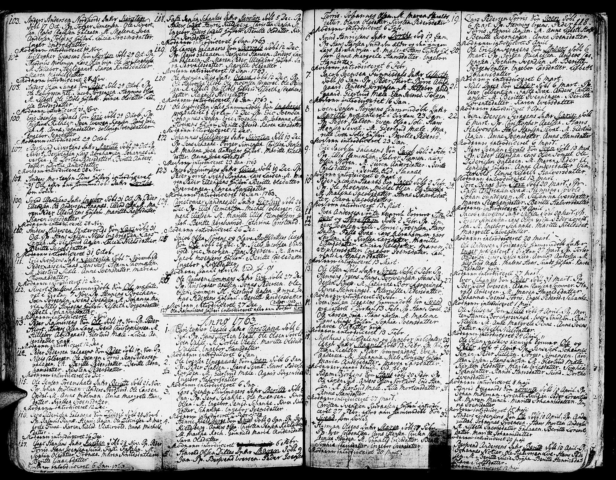 SAT, Ministerialprotokoller, klokkerbøker og fødselsregistre - Sør-Trøndelag, 681/L0925: Ministerialbok nr. 681A03, 1727-1766, s. 118