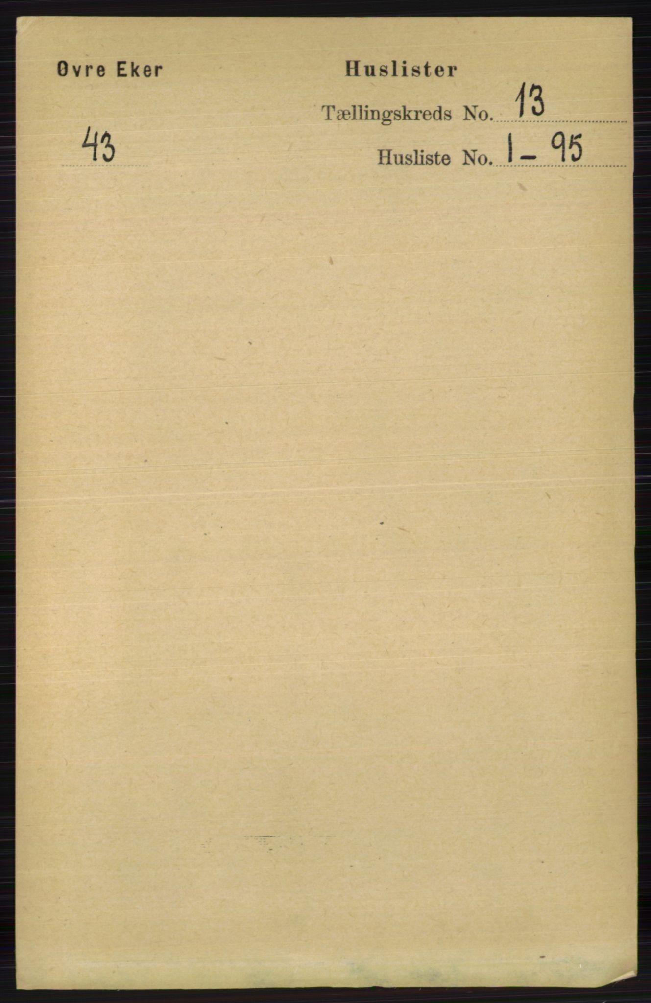 RA, Folketelling 1891 for 0624 Øvre Eiker herred, 1891, s. 5779