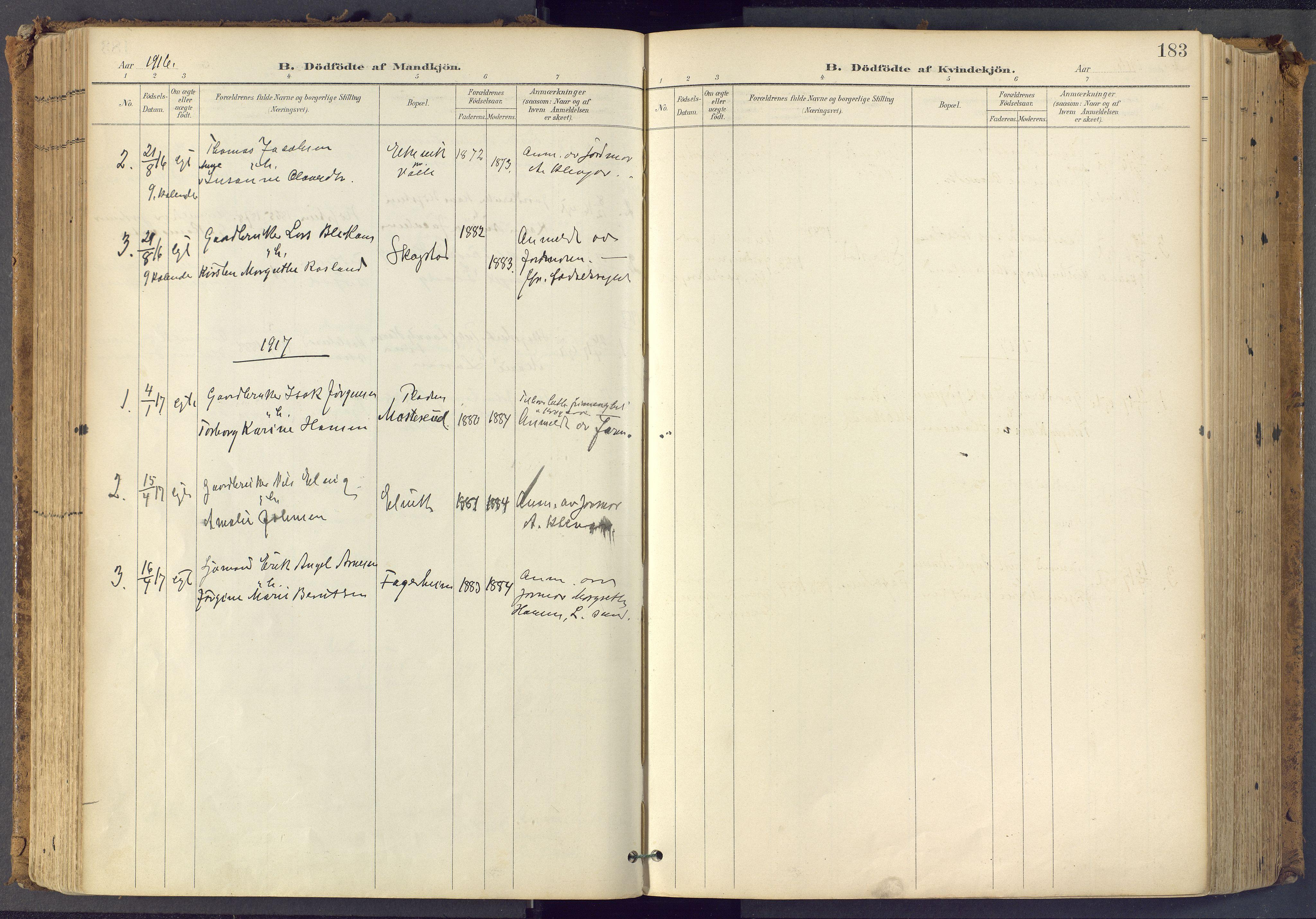 SAKO, Bamble kirkebøker, F/Fa/L0009: Ministerialbok nr. I 9, 1901-1917, s. 183
