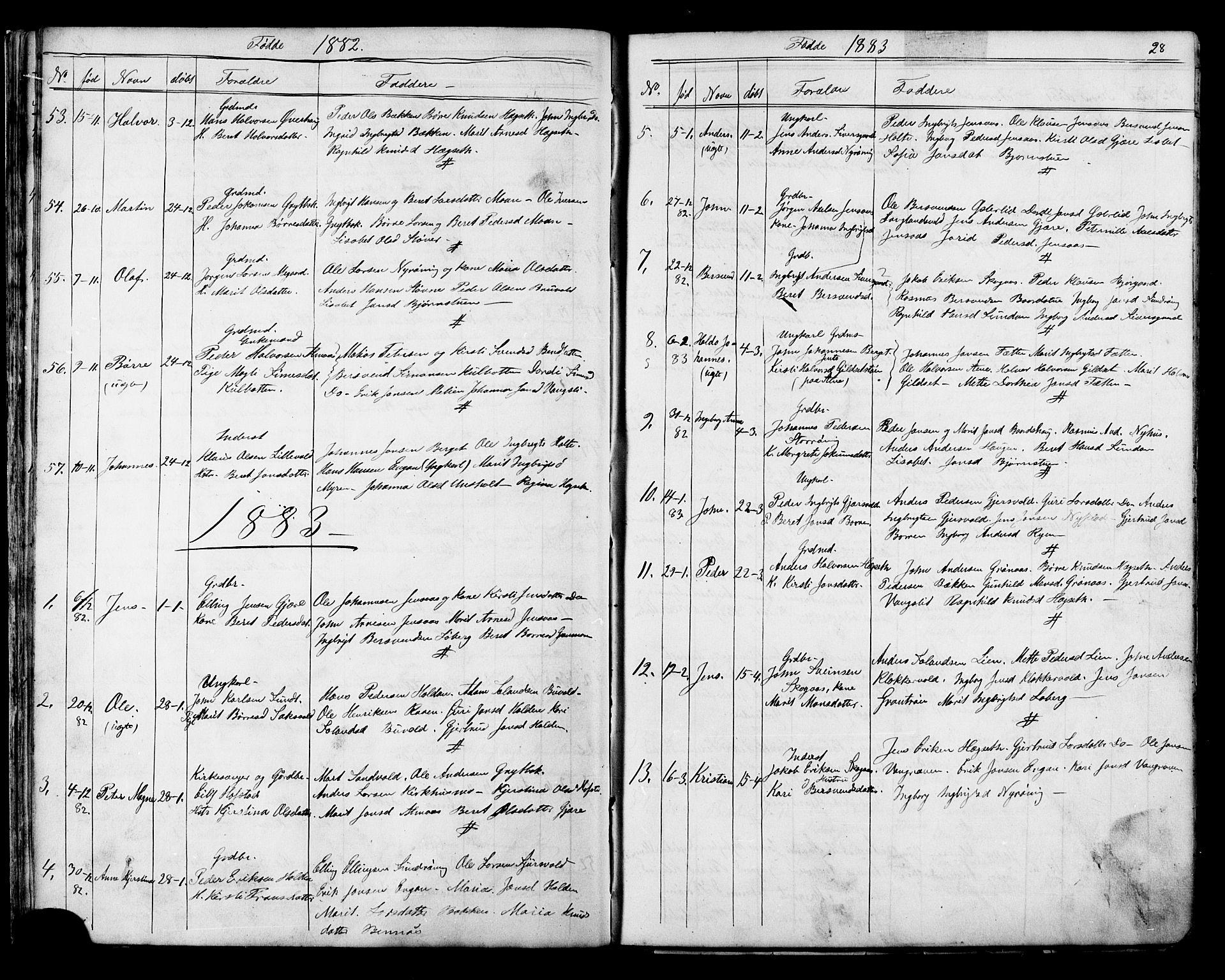 SAT, Ministerialprotokoller, klokkerbøker og fødselsregistre - Sør-Trøndelag, 686/L0985: Klokkerbok nr. 686C01, 1871-1933, s. 28