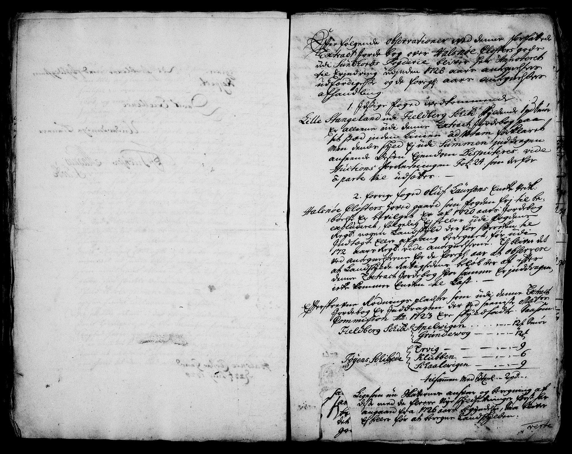RA, Rentekammeret inntil 1814, Realistisk ordnet avdeling, On/L0003: [Jj 4]: Kommisjonsforretning over Vilhelm Hanssøns forpaktning av Halsnøy klosters gods, 1721-1729, s. 464