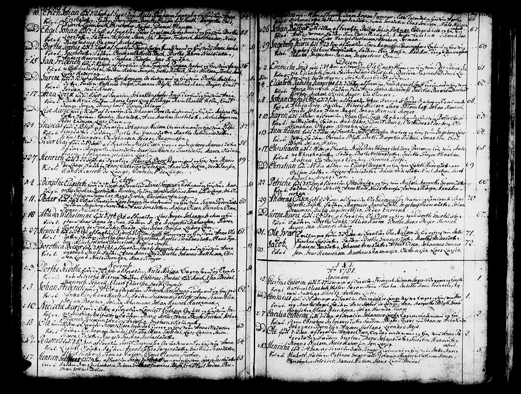 SAB, Domkirken Sokneprestembete, H/Haa/L0003: Ministerialbok nr. A 3, 1758-1789, s. 222-223