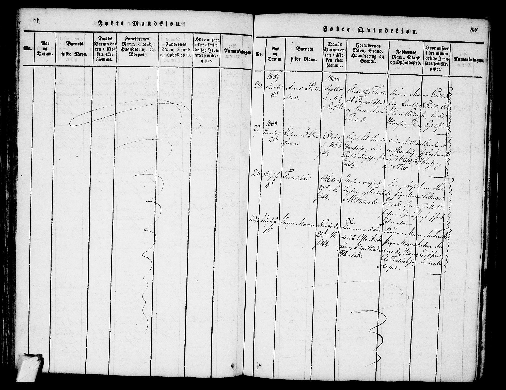 SAKO, Stavern kirkebøker, F/Fa/L0006: Ministerialbok nr. 6, 1816-1839, s. 84