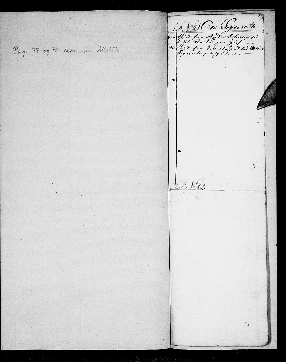 SAT, Molde byfogd, 2A/L0001: Panteregister nr. 1, 1790-1823, s. 77
