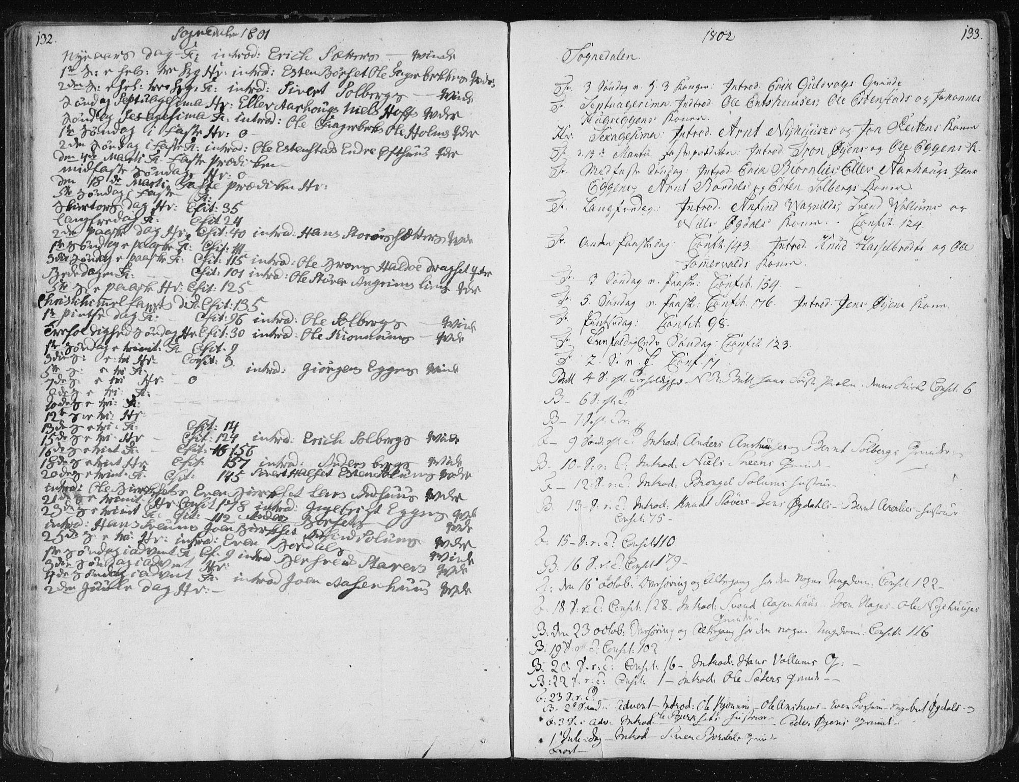 SAT, Ministerialprotokoller, klokkerbøker og fødselsregistre - Sør-Trøndelag, 687/L0994: Ministerialbok nr. 687A03 /3, 1788-1815, s. 132-133