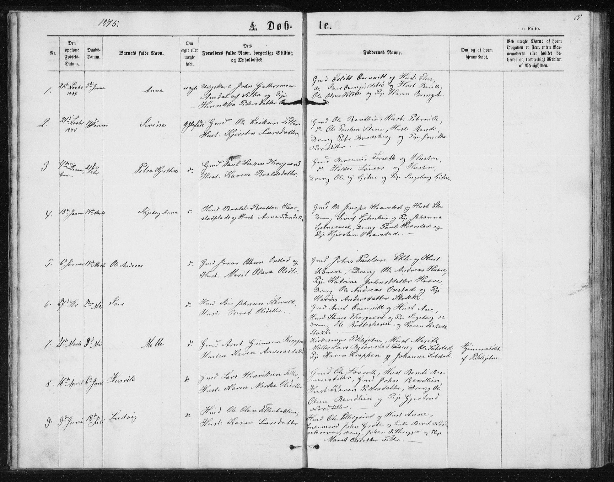 SAT, Ministerialprotokoller, klokkerbøker og fødselsregistre - Sør-Trøndelag, 621/L0459: Klokkerbok nr. 621C02, 1866-1895, s. 15