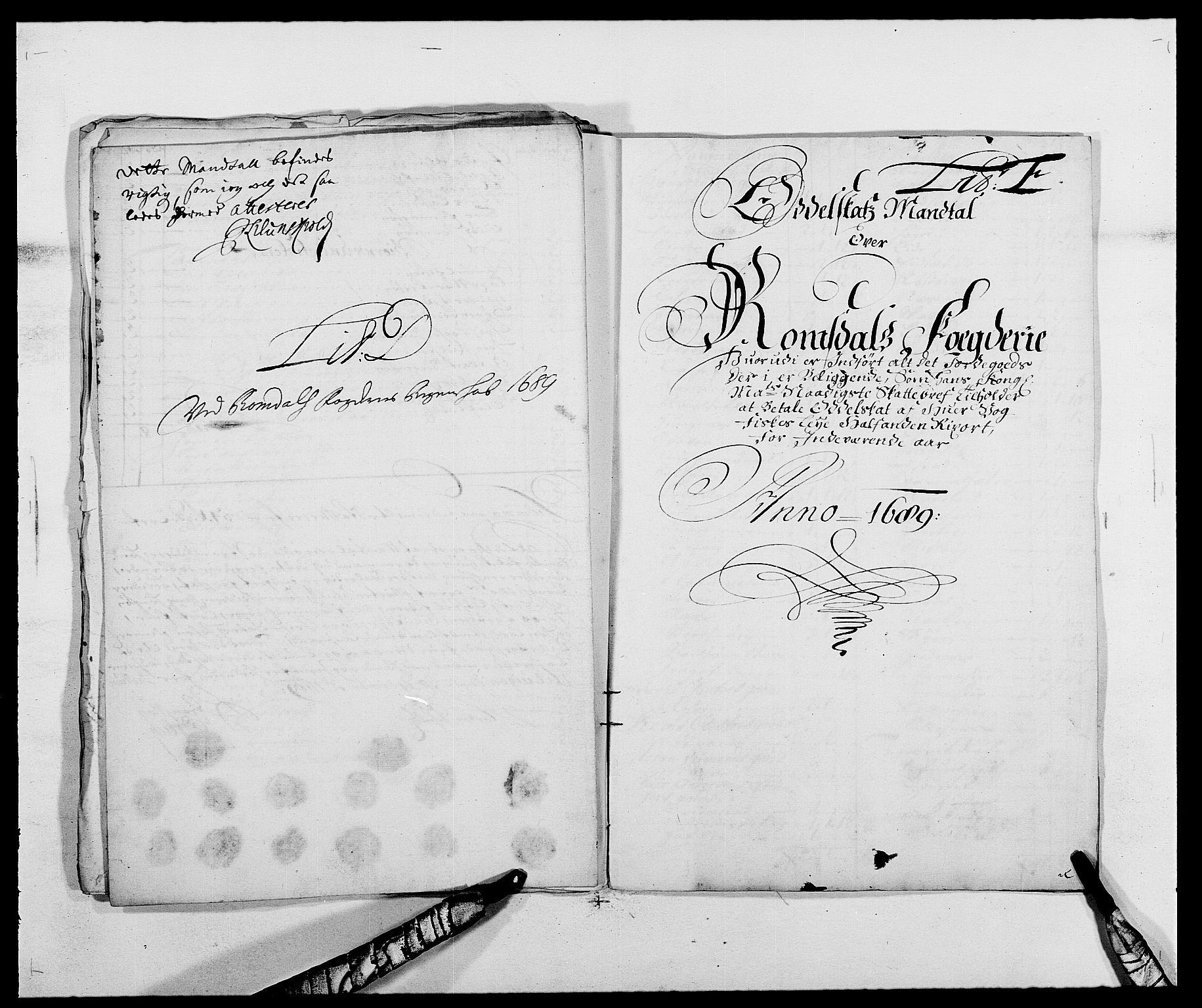 RA, Rentekammeret inntil 1814, Reviderte regnskaper, Fogderegnskap, R55/L3648: Fogderegnskap Romsdal, 1687-1689, s. 323