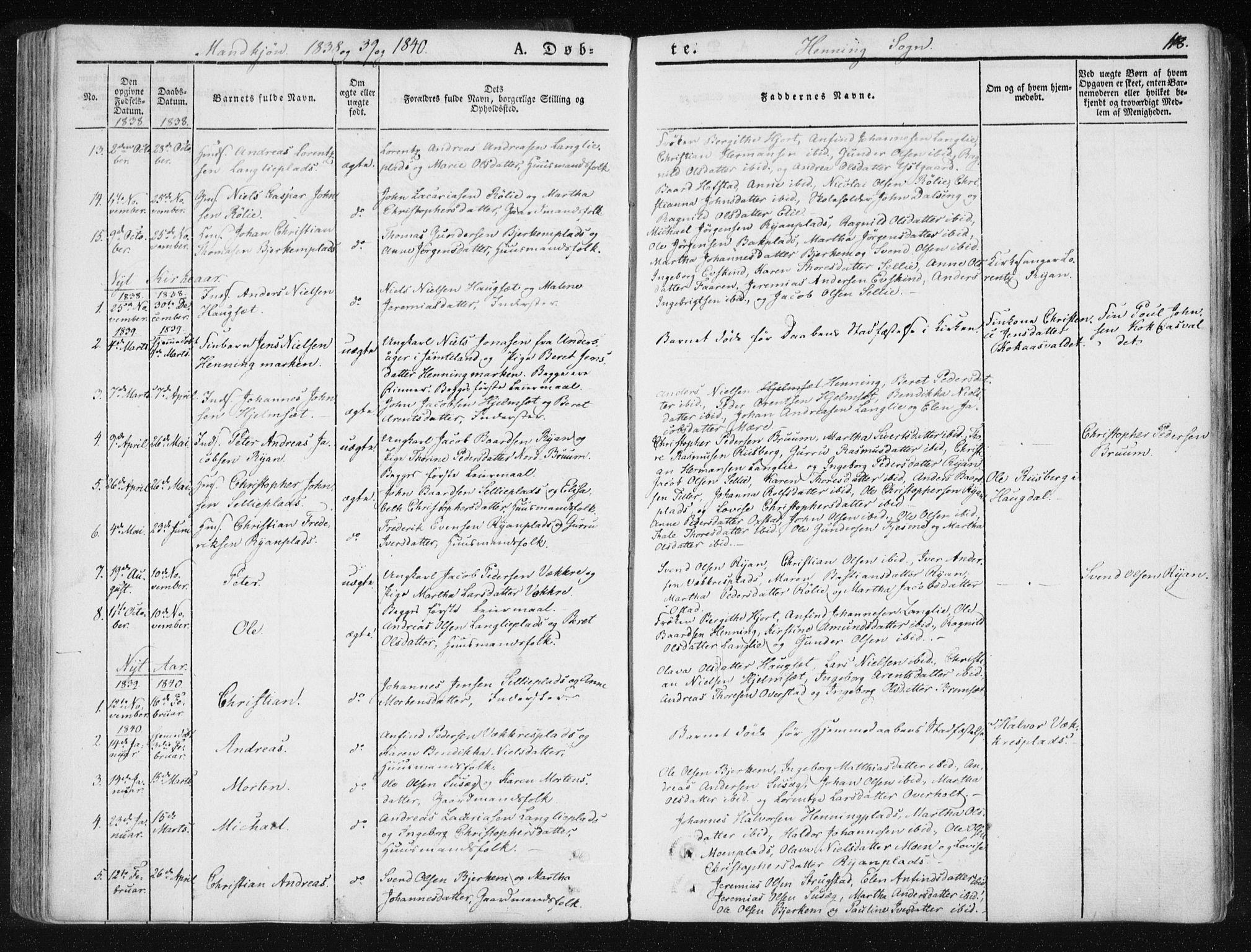 SAT, Ministerialprotokoller, klokkerbøker og fødselsregistre - Nord-Trøndelag, 735/L0339: Ministerialbok nr. 735A06 /3, 1836-1848, s. 118