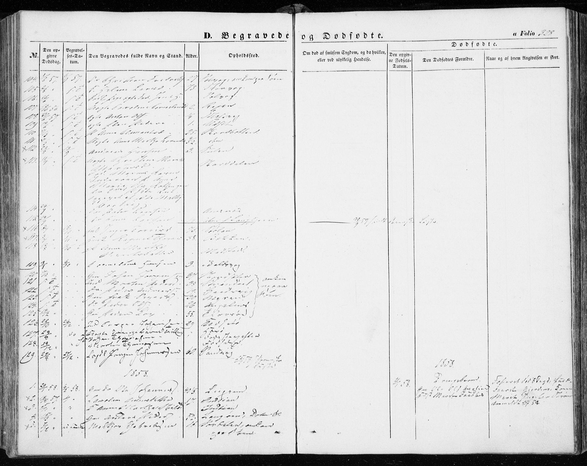 SAT, Ministerialprotokoller, klokkerbøker og fødselsregistre - Sør-Trøndelag, 634/L0530: Ministerialbok nr. 634A06, 1852-1860, s. 328
