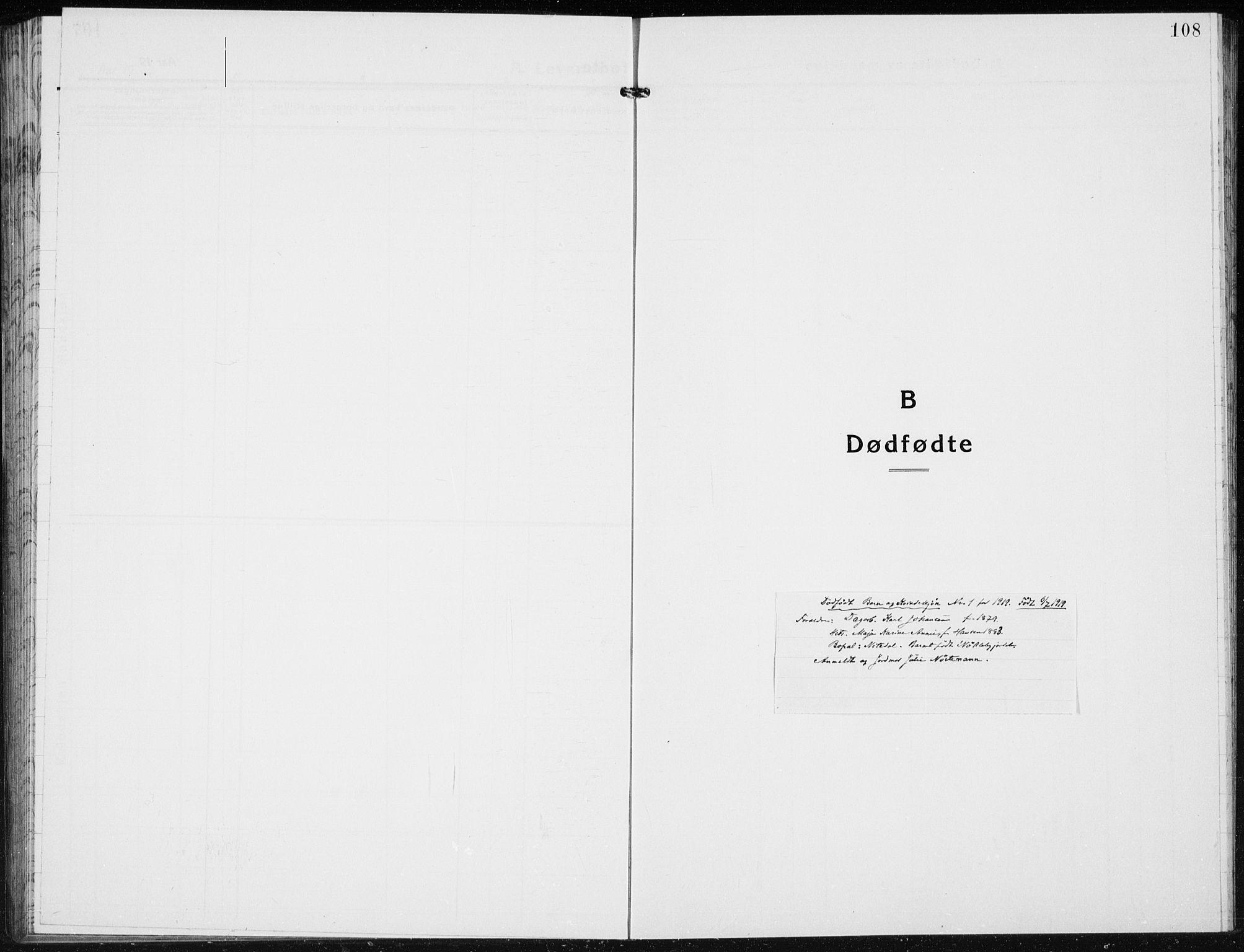SAH, Jevnaker prestekontor, Klokkerbok nr. 5, 1919-1934, s. 108