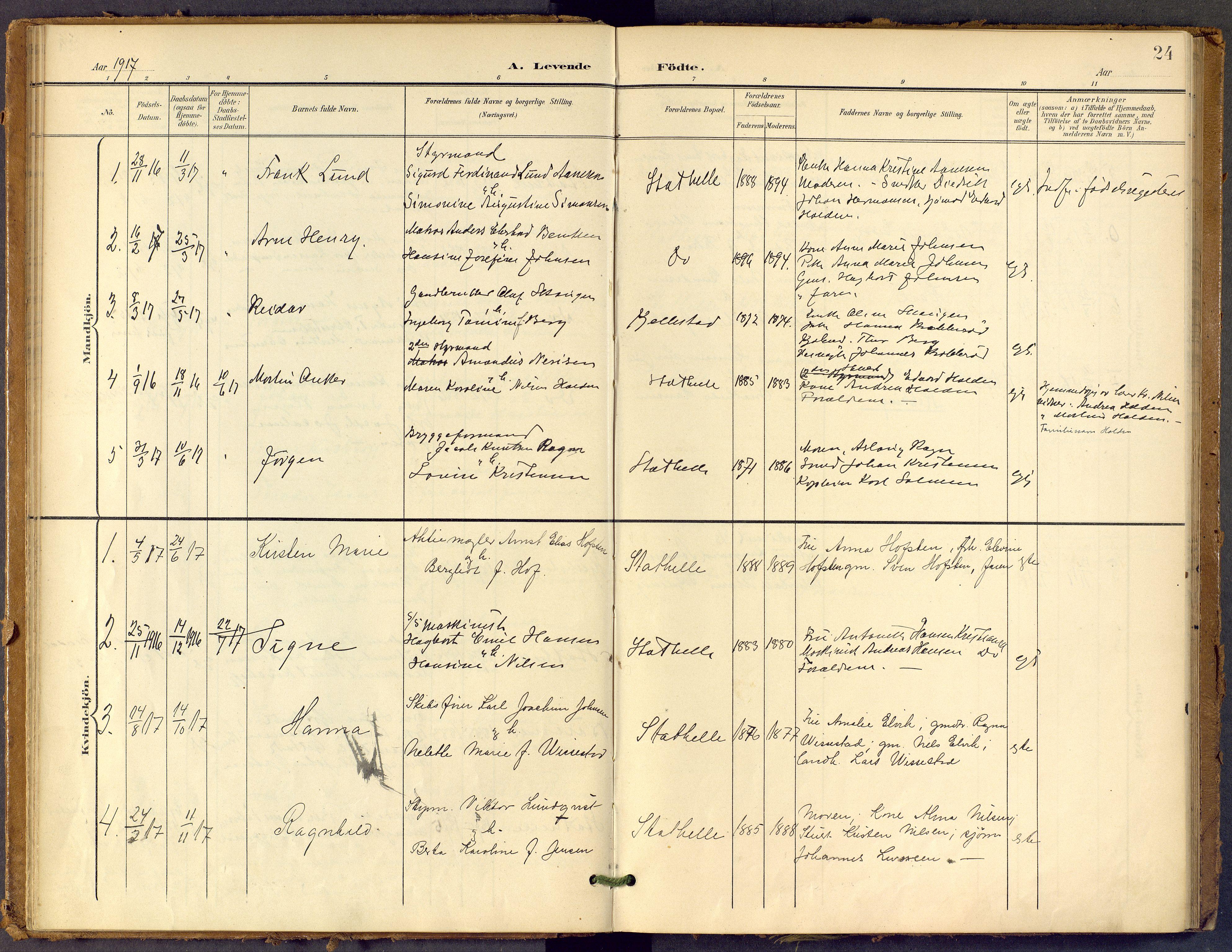 SAKO, Bamble kirkebøker, F/Fb/L0002: Ministerialbok nr. II 2, 1900-1921, s. 24