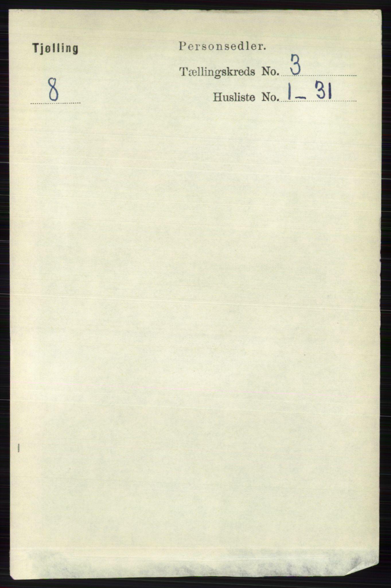 RA, Folketelling 1891 for 0725 Tjølling herred, 1891, s. 915