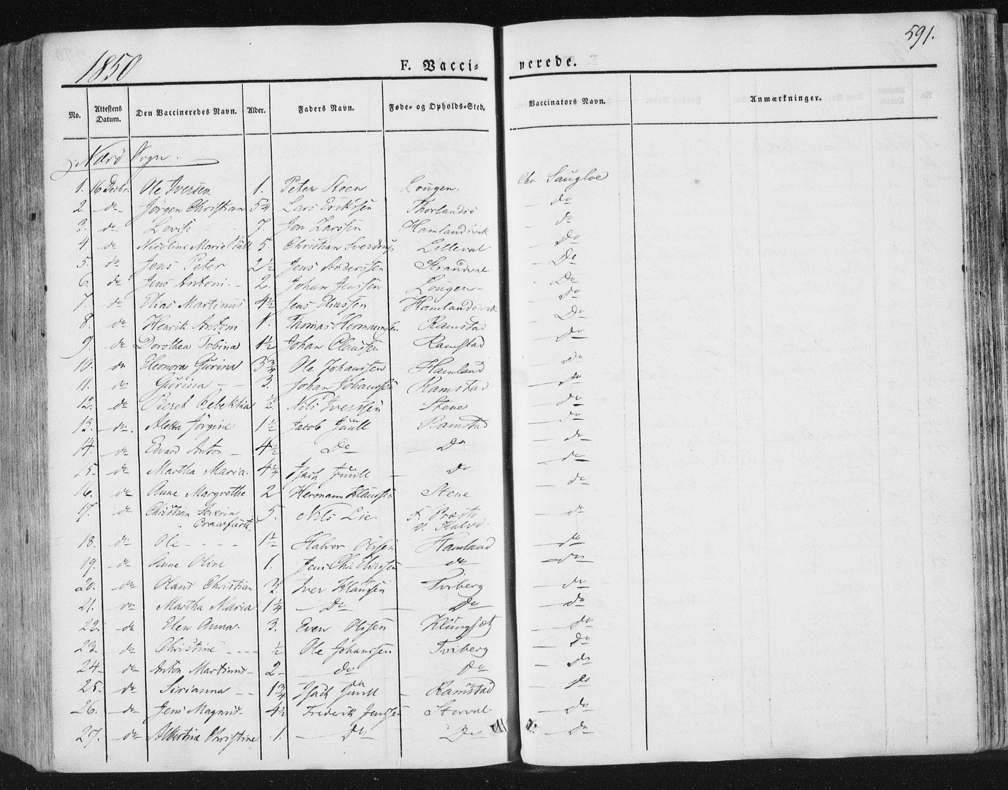 SAT, Ministerialprotokoller, klokkerbøker og fødselsregistre - Nord-Trøndelag, 784/L0669: Ministerialbok nr. 784A04, 1829-1859, s. 591