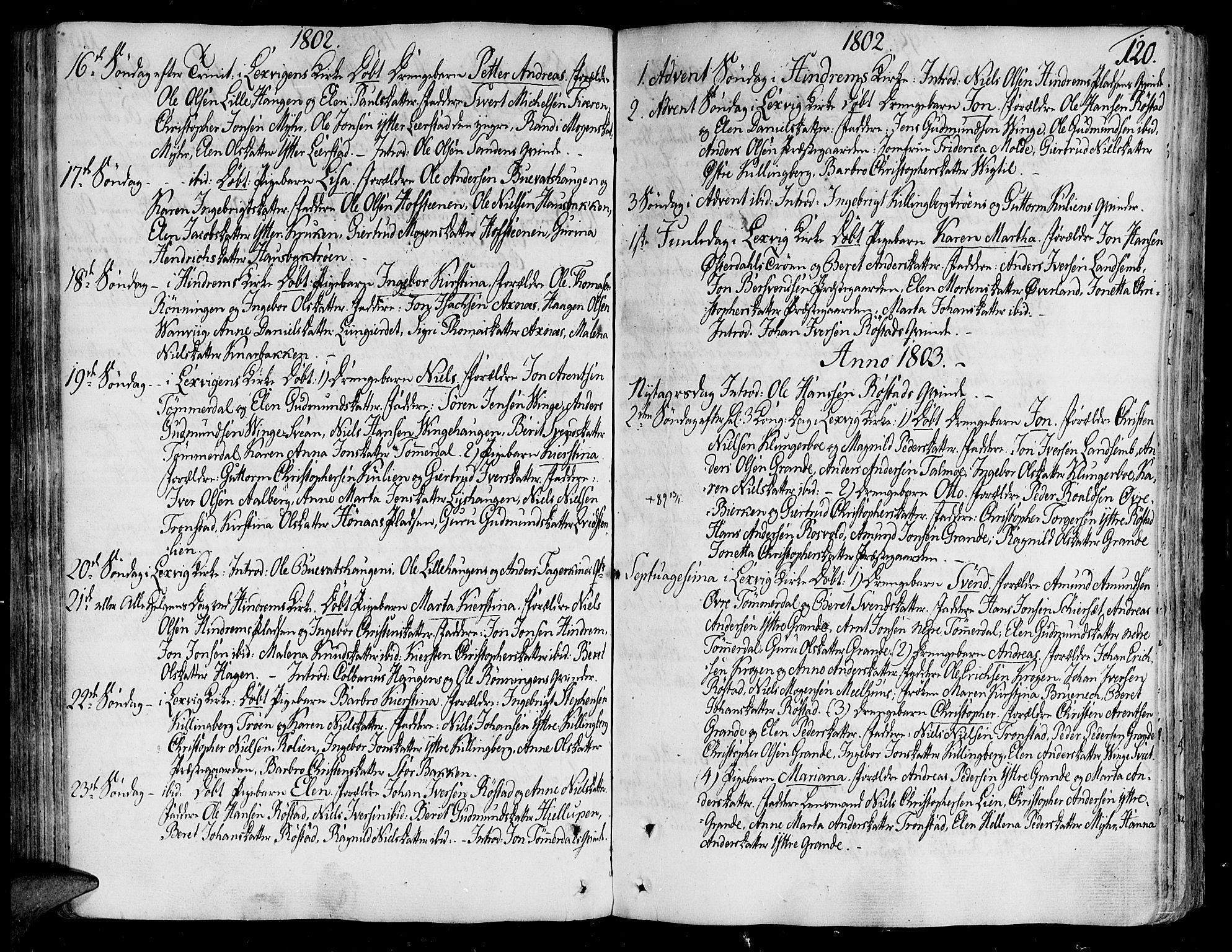 SAT, Ministerialprotokoller, klokkerbøker og fødselsregistre - Nord-Trøndelag, 701/L0004: Ministerialbok nr. 701A04, 1783-1816, s. 120