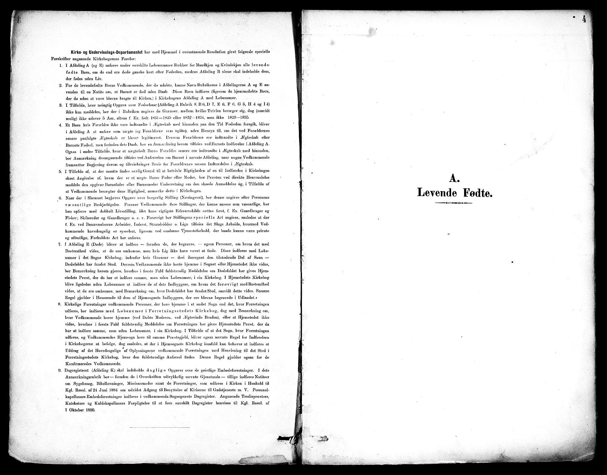 SAST, Haugesund sokneprestkontor, H/Ha/Haa/L0006: Ministerialbok nr. A 6, 1891-1907, s. 4