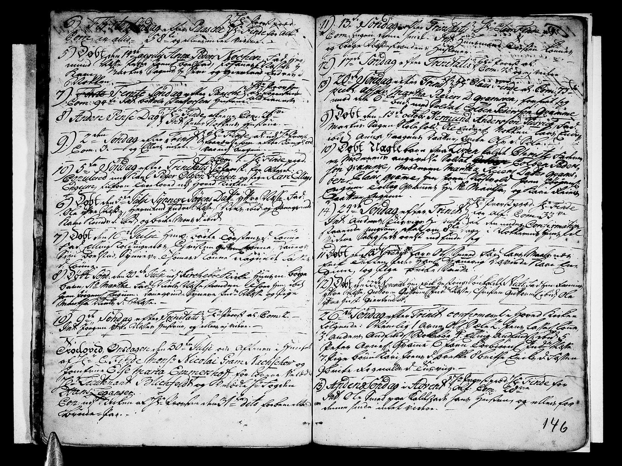 SAB, Vik Sokneprestembete, Ministerialbok nr. A 3 /4, 1755-1771, s. 146