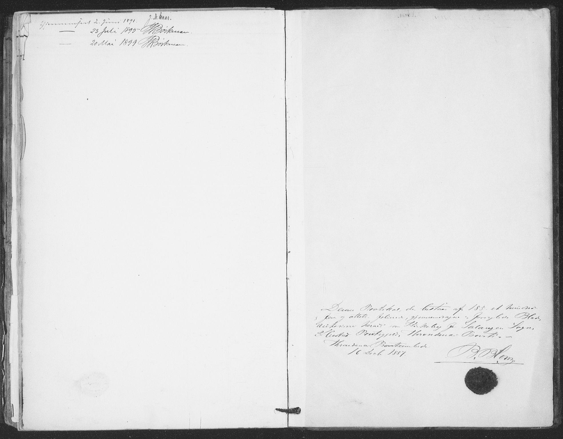 SATØ, Ibestad sokneprestembete, Ministerialbok nr. 15, 1888-1899