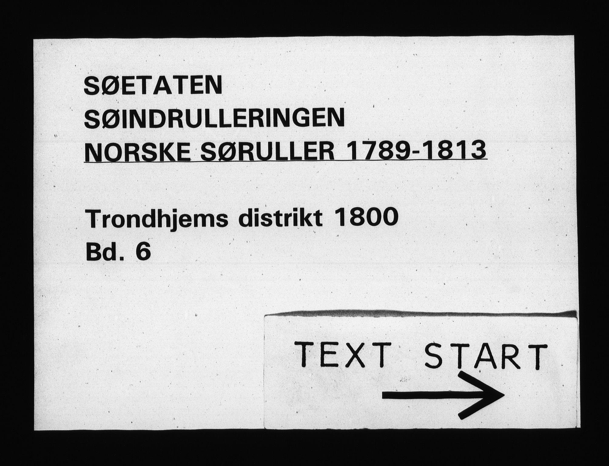 RA, Sjøetaten, F/L0323: Trondheim distrikt, bind 6, 1800