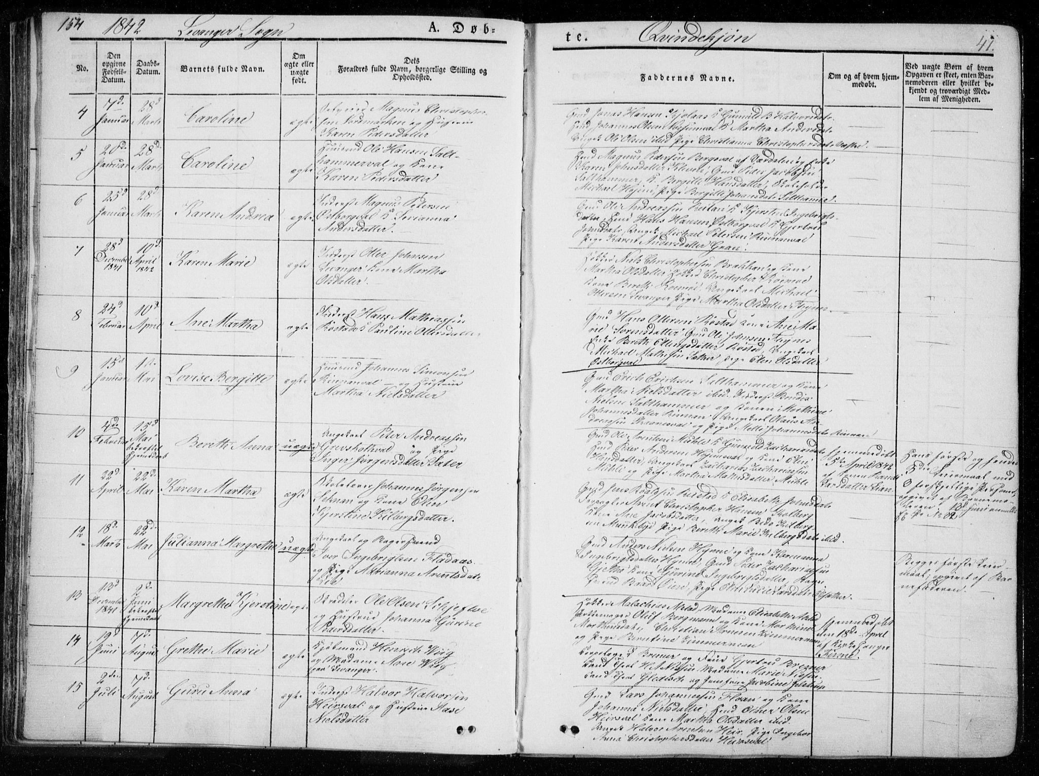 SAT, Ministerialprotokoller, klokkerbøker og fødselsregistre - Nord-Trøndelag, 720/L0183: Ministerialbok nr. 720A01, 1836-1855, s. 41