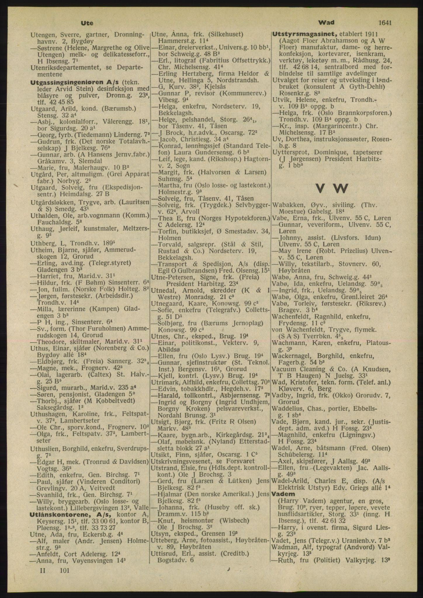 RA, Oslo adressebok (publikasjon)*, 1955, s. 1641