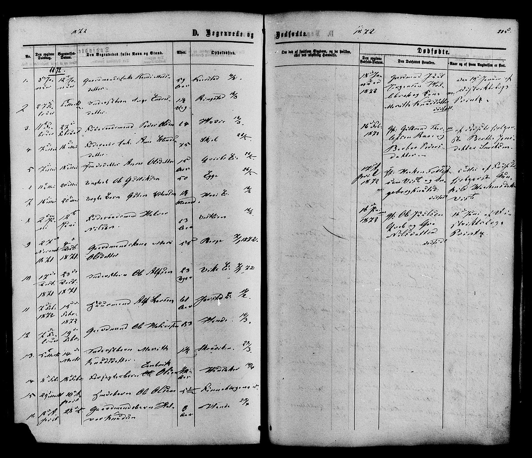 SAH, Vestre Slidre prestekontor, Ministerialbok nr. 3, 1865-1880, s. 225