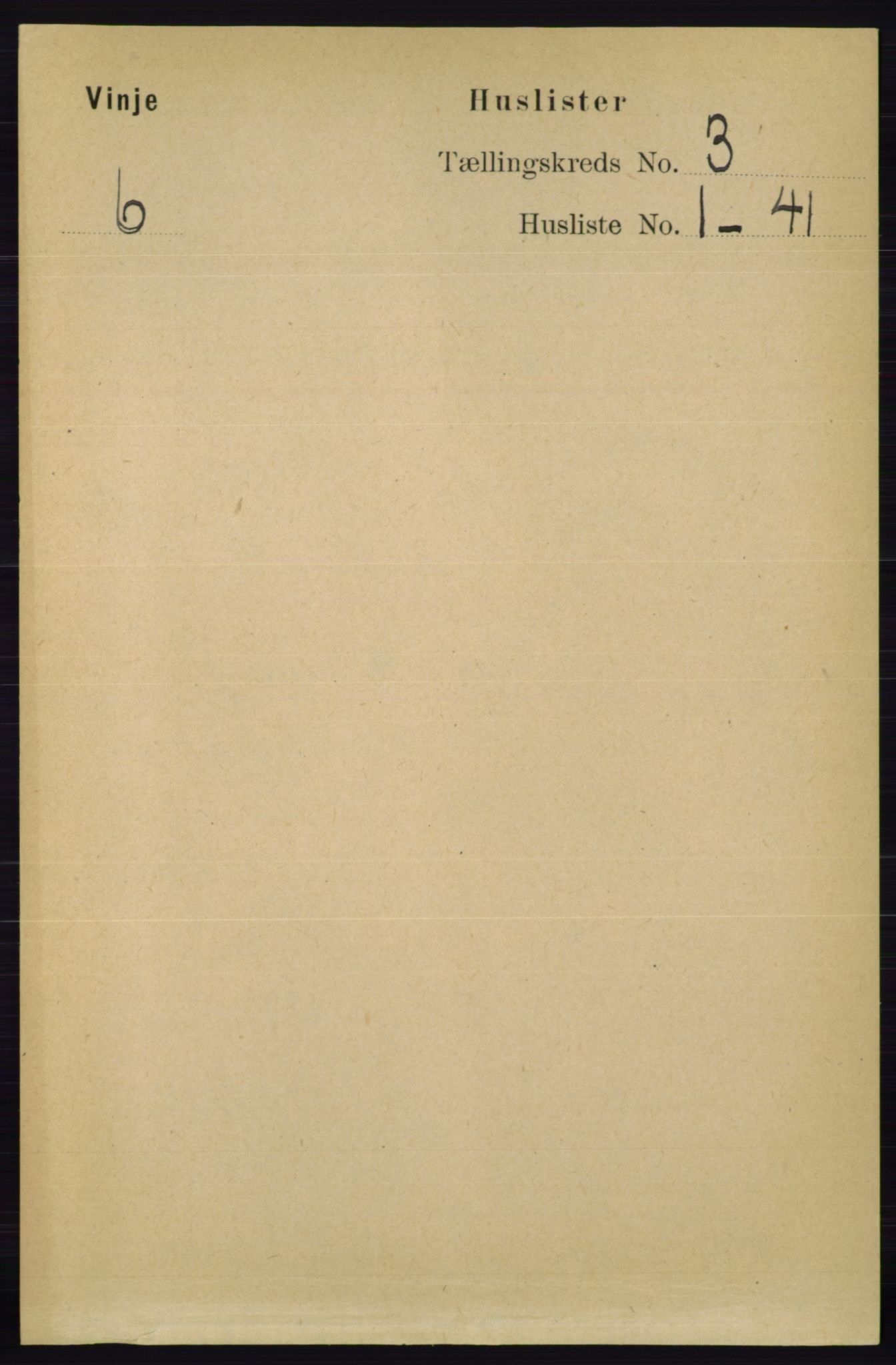 RA, Folketelling 1891 for 0834 Vinje herred, 1891, s. 600
