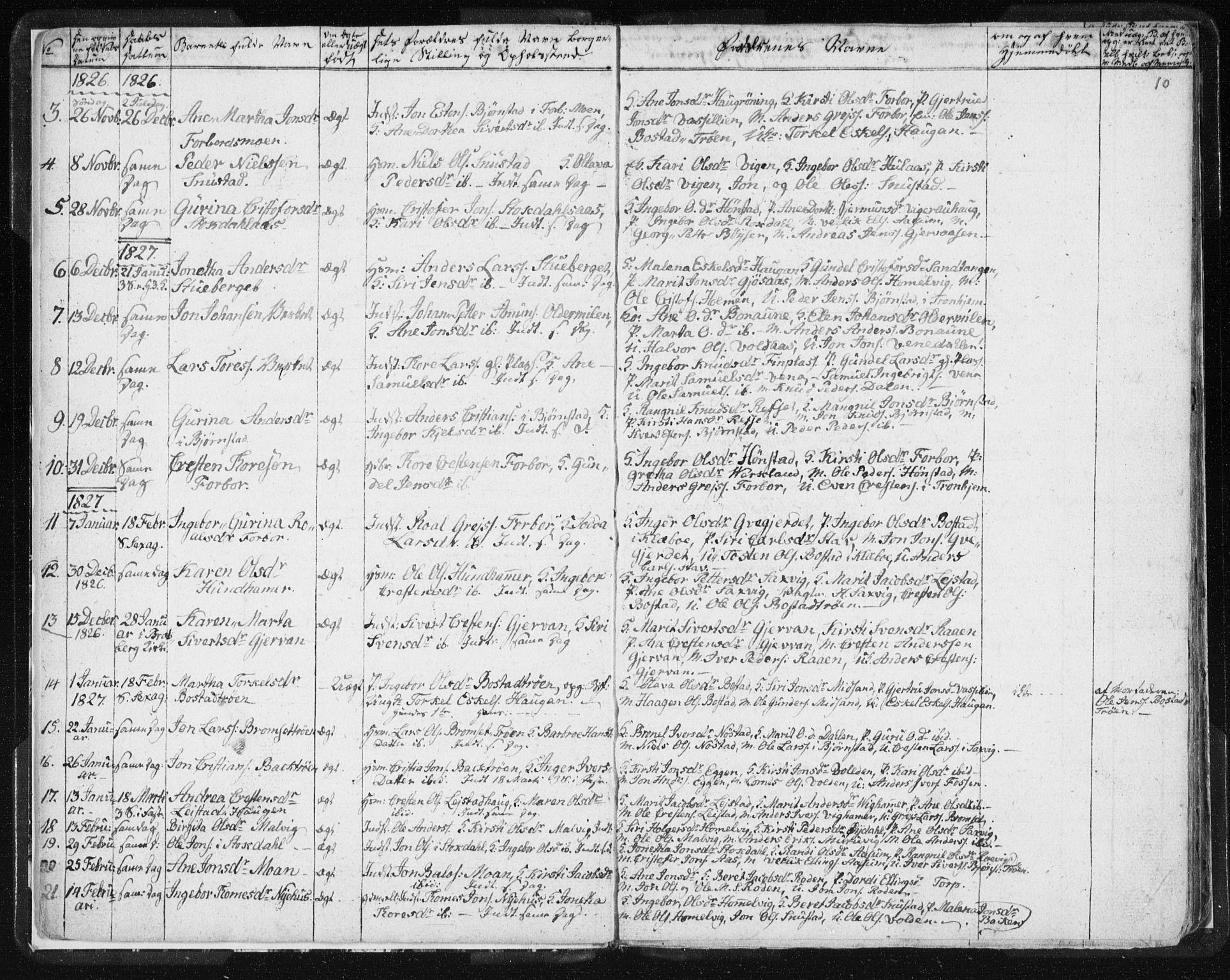 SAT, Ministerialprotokoller, klokkerbøker og fødselsregistre - Sør-Trøndelag, 616/L0404: Ministerialbok nr. 616A01, 1823-1831, s. 10