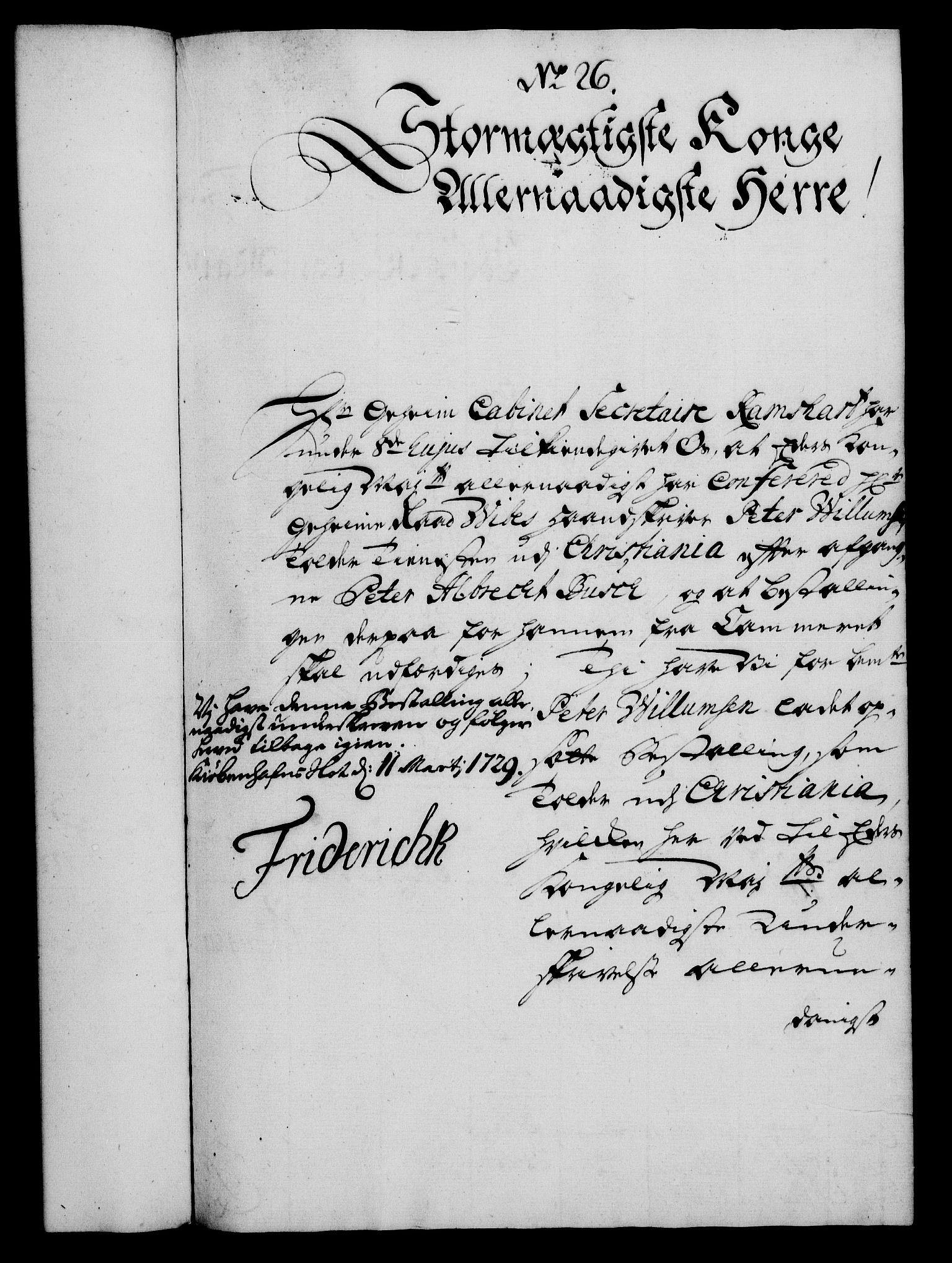 RA, Rentekammeret, Kammerkanselliet, G/Gf/Gfa/L0012: Norsk relasjons- og resolusjonsprotokoll (merket RK 52.12), 1729, s. 150