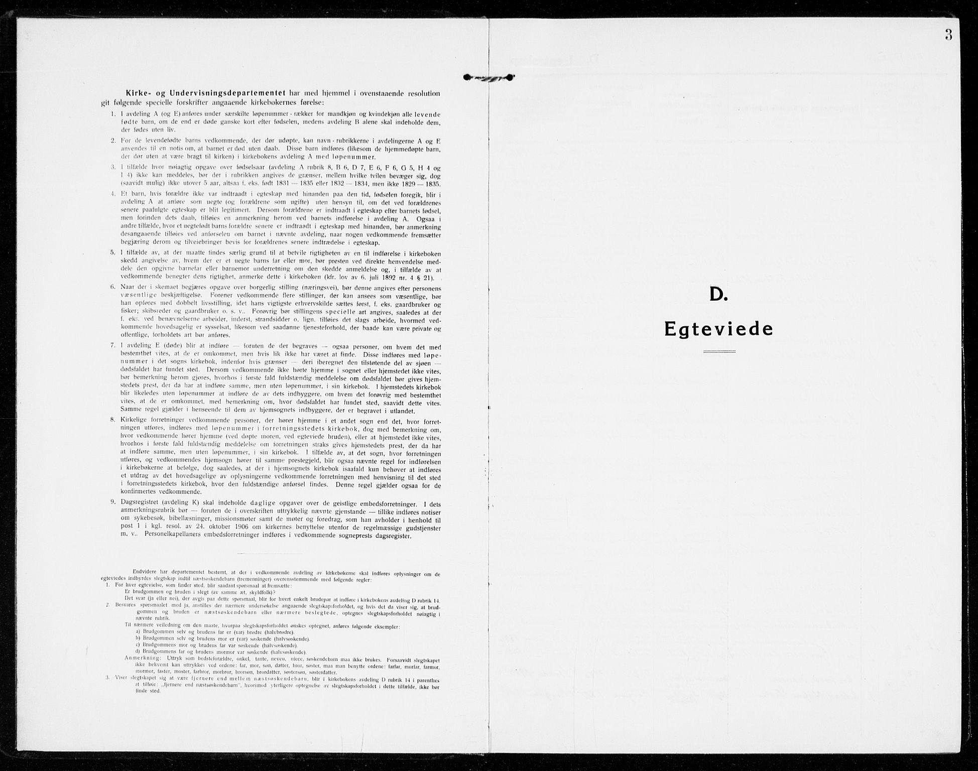 SAKO, Sandar kirkebøker, F/Fa/L0020: Ministerialbok nr. 20, 1915-1919, s. 3