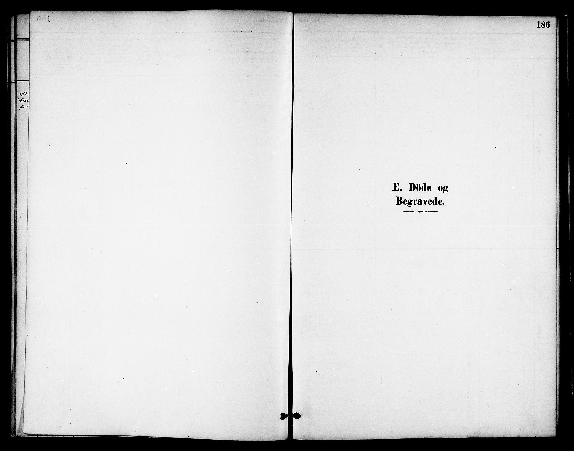 SAT, Ministerialprotokoller, klokkerbøker og fødselsregistre - Nord-Trøndelag, 739/L0371: Ministerialbok nr. 739A03, 1881-1895, s. 186