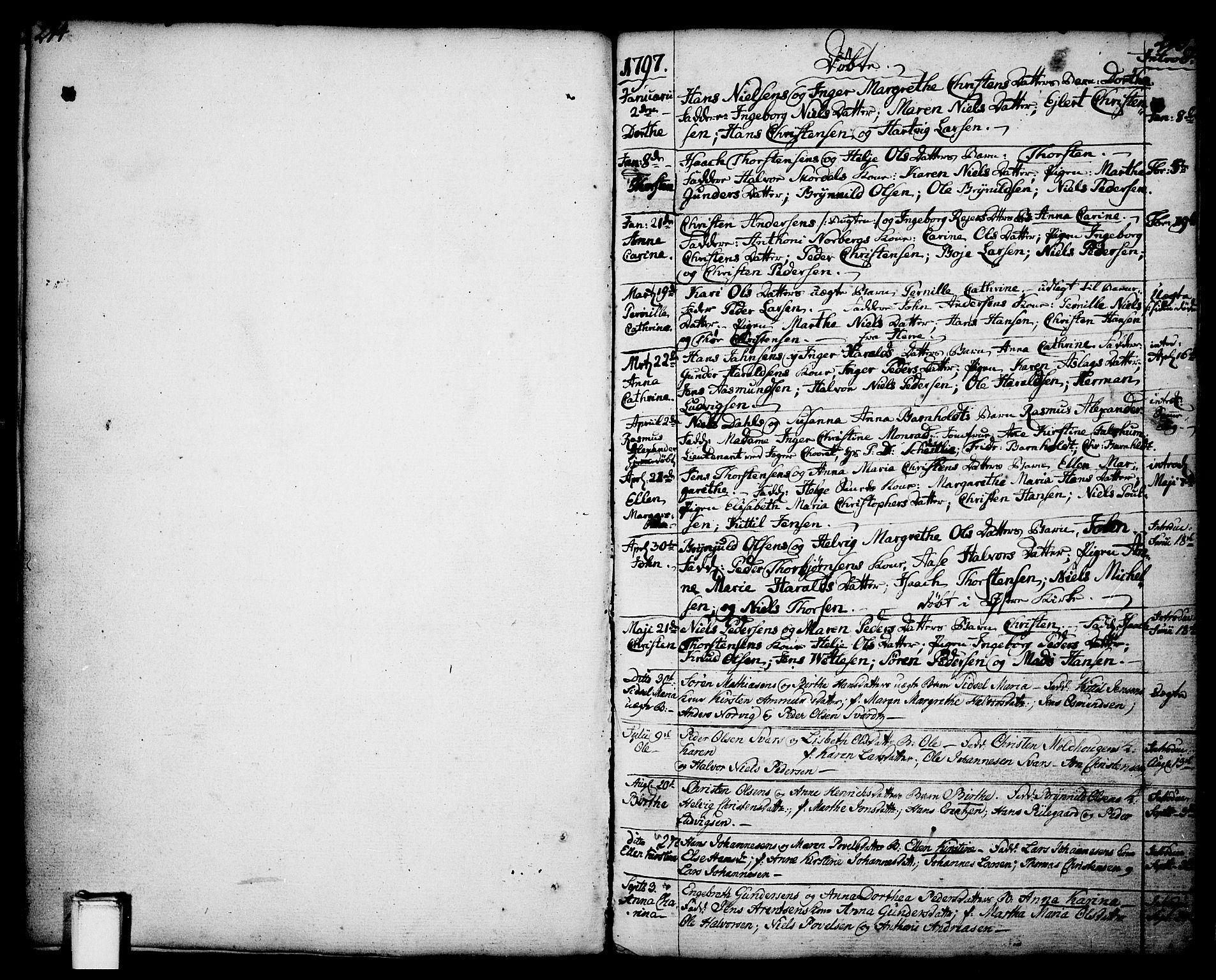 SAKO, Porsgrunn kirkebøker , F/Fa/L0001: Ministerialbok nr. 1, 1764-1814, s. 214-215