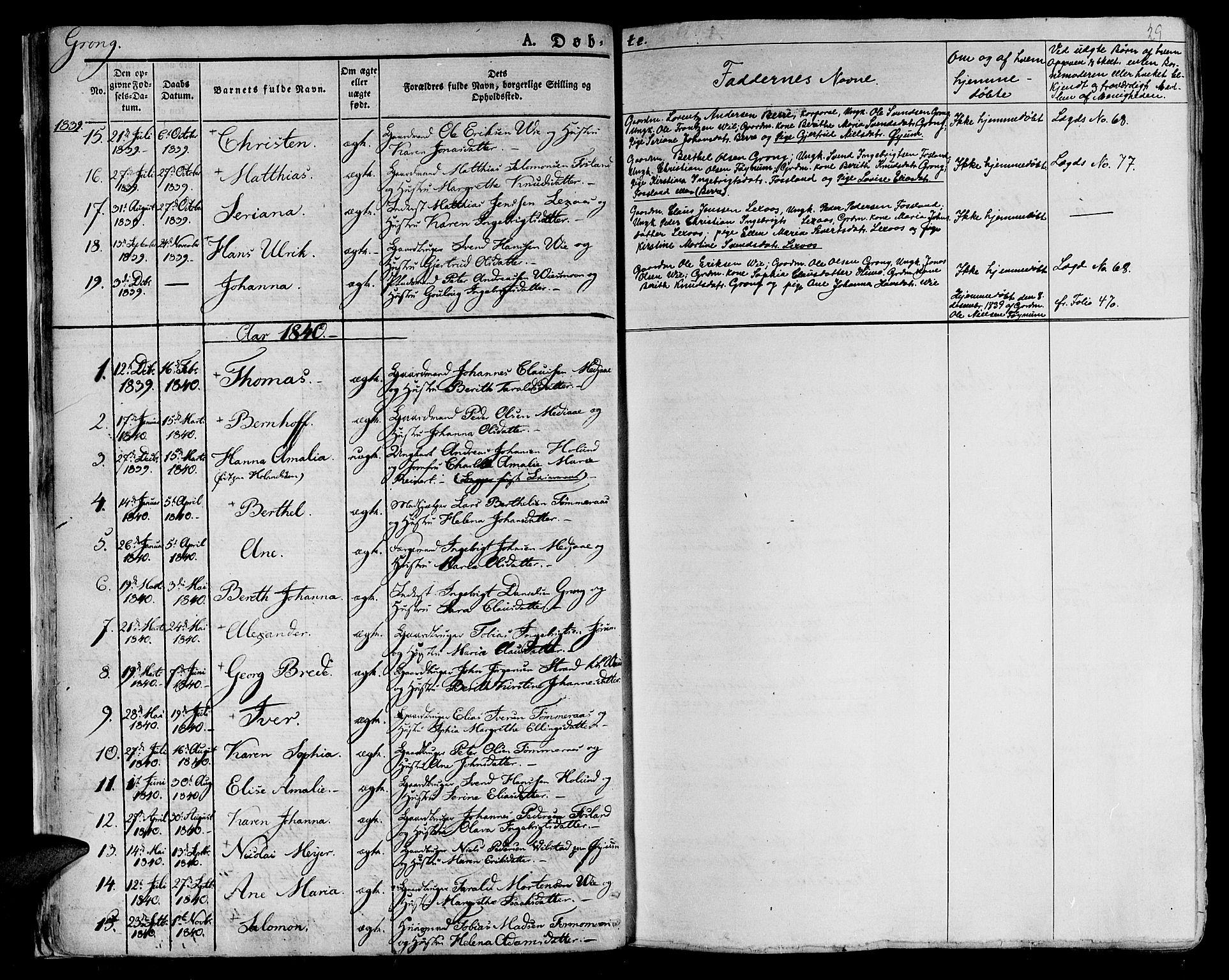 SAT, Ministerialprotokoller, klokkerbøker og fødselsregistre - Nord-Trøndelag, 758/L0510: Ministerialbok nr. 758A01 /1, 1821-1841, s. 29