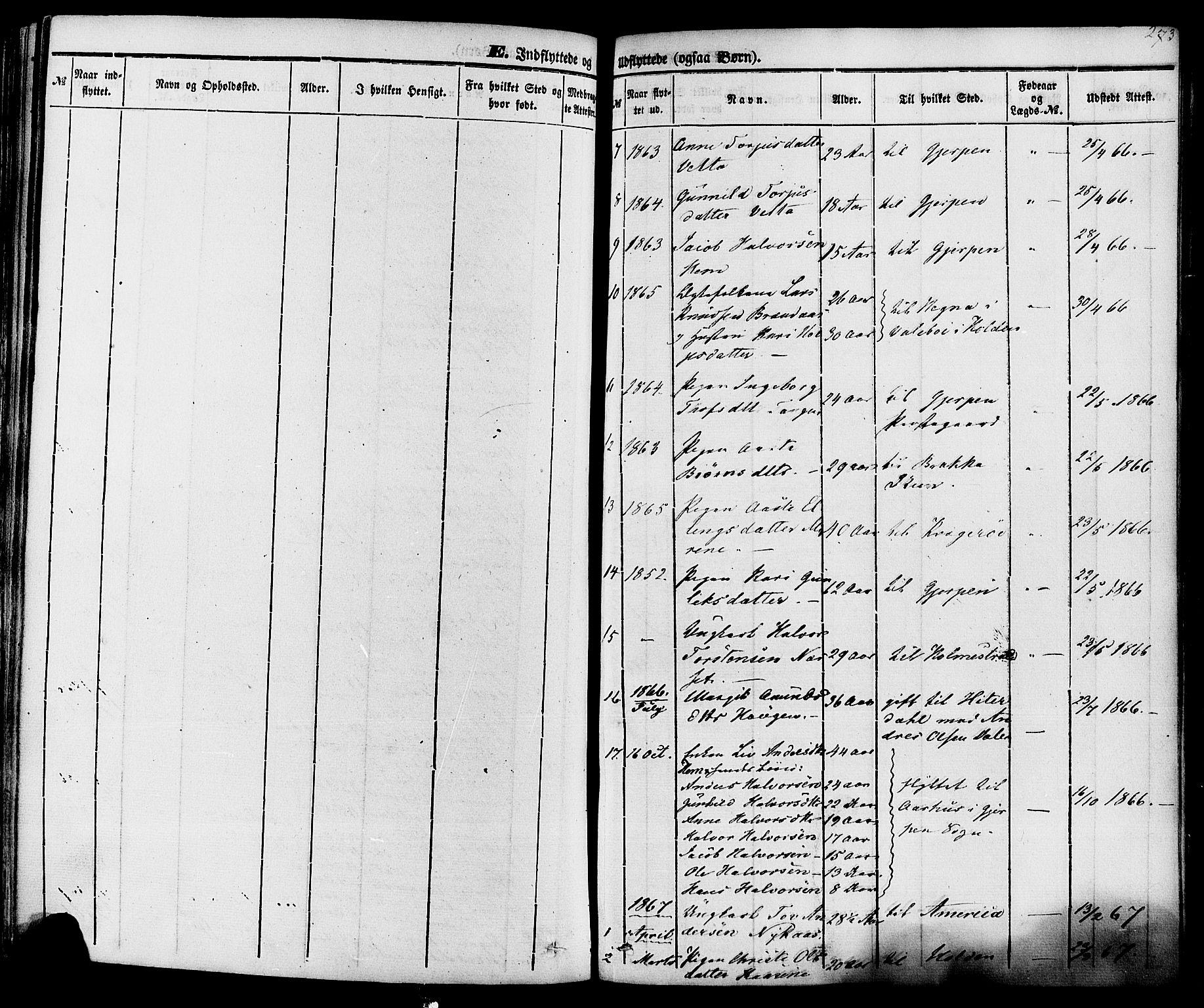 SAKO, Sauherad kirkebøker, F/Fa/L0007: Ministerialbok nr. I 7, 1851-1873, s. 273