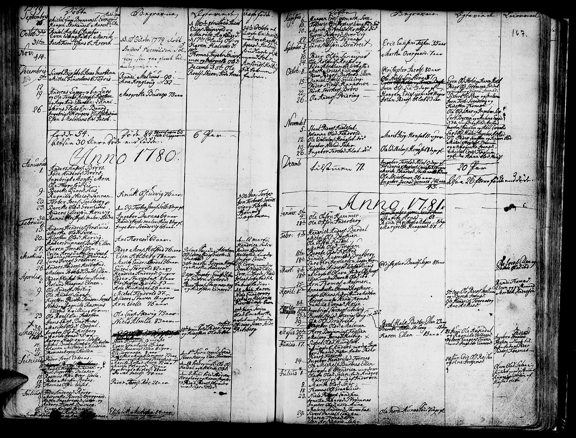 SAT, Ministerialprotokoller, klokkerbøker og fødselsregistre - Nord-Trøndelag, 741/L0385: Ministerialbok nr. 741A01, 1722-1815, s. 167