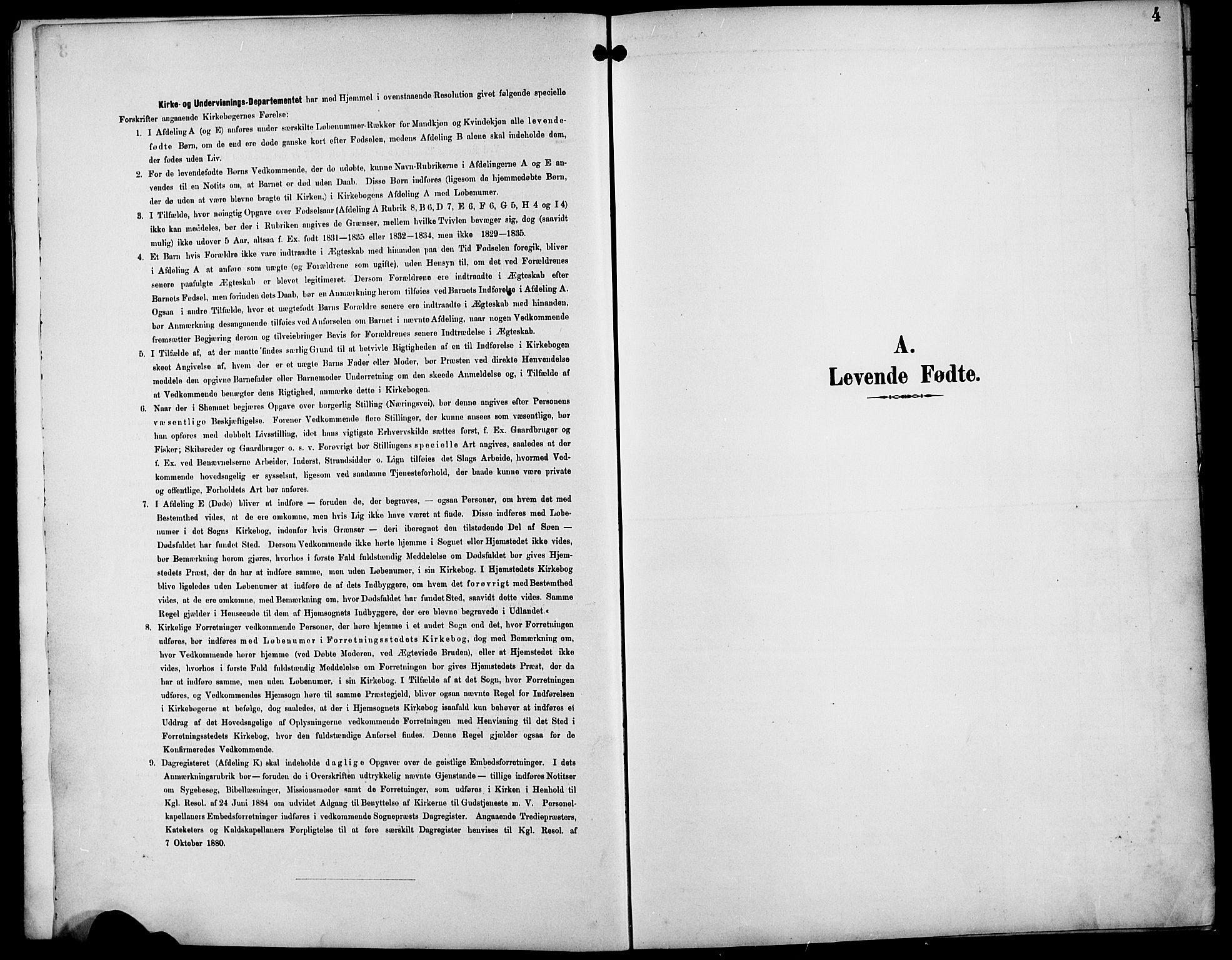 SAST, Egersund sokneprestkontor, Klokkerbok nr. B 10, 1893-1907, s. 4