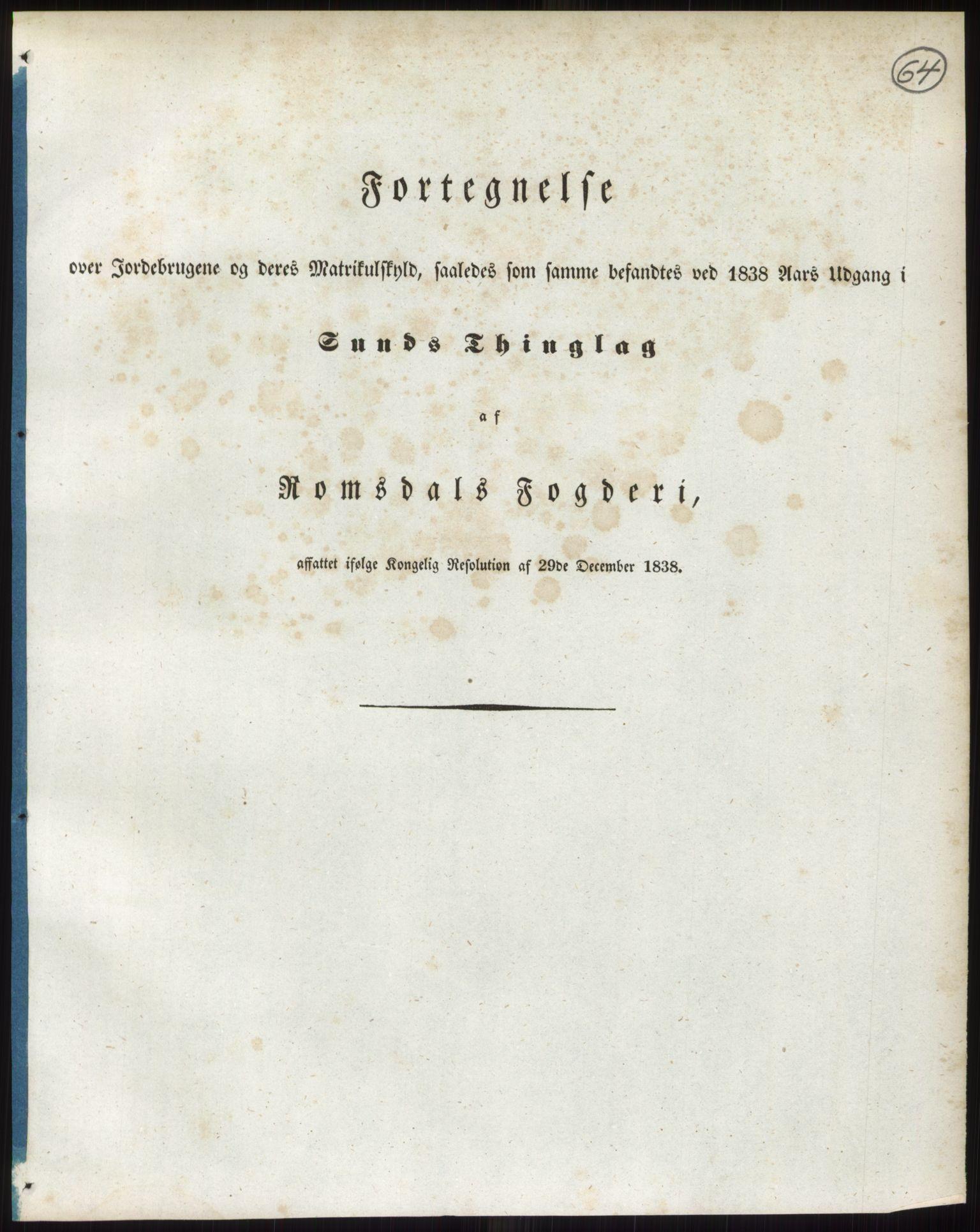 RA, 1838-matrikkelen (publikasjon)*, 1838, s. 64