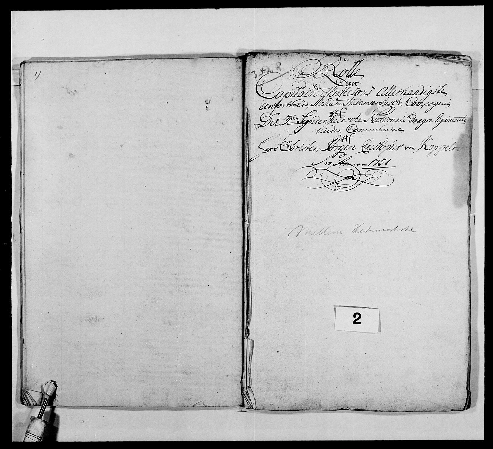 RA, Kommanderende general (KG I) med Det norske krigsdirektorium, E/Ea/L0479: 3. Sønnafjelske dragonregiment, 1756-1760, s. 32