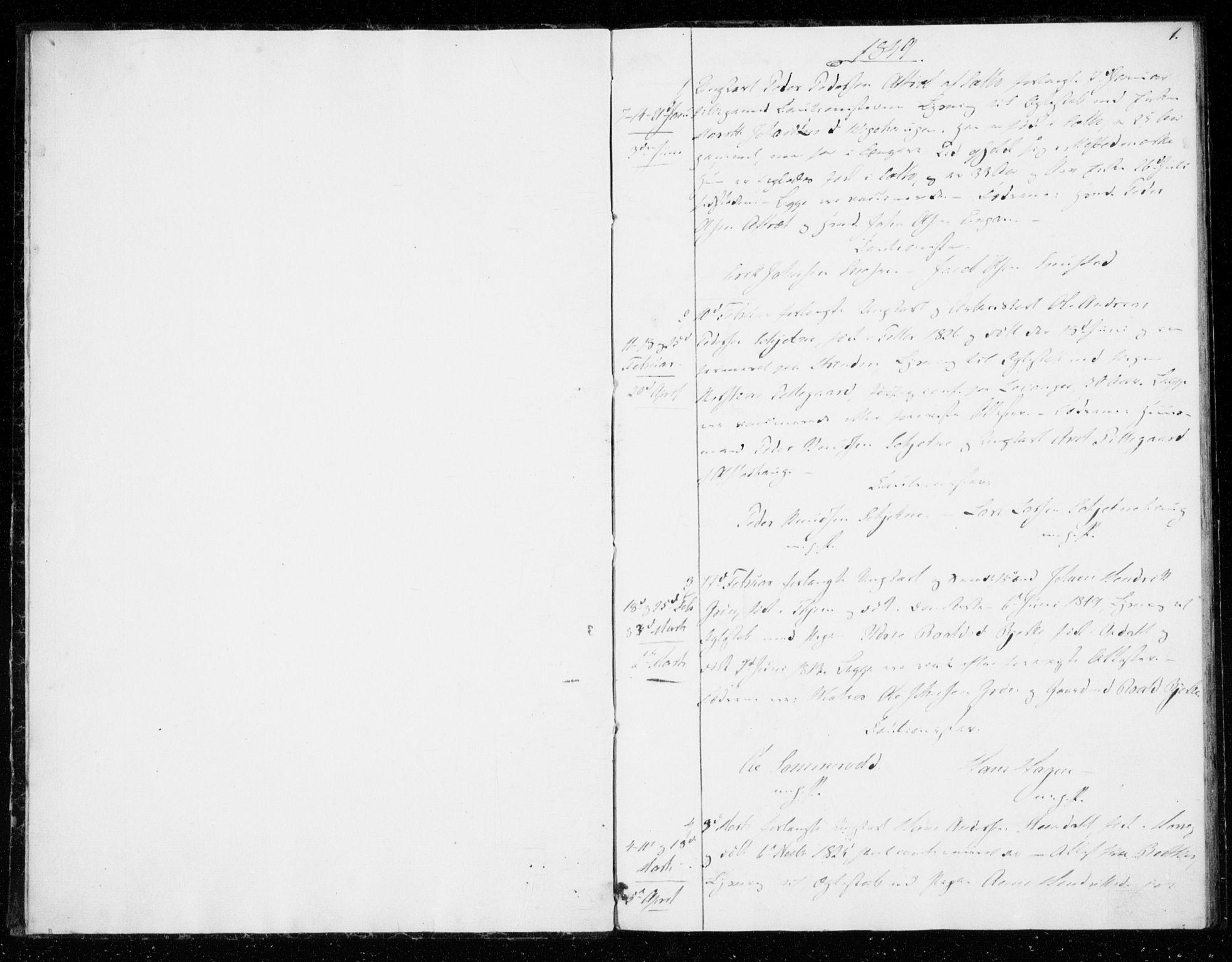 SAT, Ministerialprotokoller, klokkerbøker og fødselsregistre - Sør-Trøndelag, 606/L0296: Lysningsprotokoll nr. 606A11, 1849-1854, s. 1